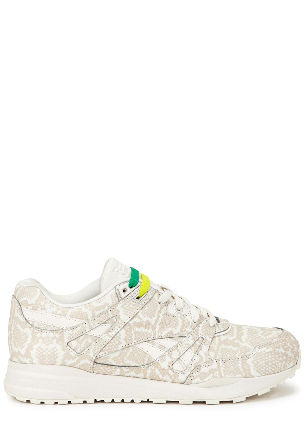 846af9d399d5f4 Reebok Ventilator White Snake-print Leather Trainers in White - Lyst