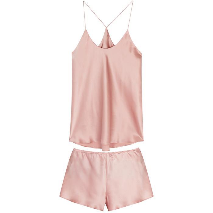 bb96d7cbe3 Olivia Von Halle Bella Blush Silk Pyjama Set in Pink - Lyst