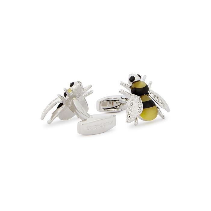 9f51c932e Simon Carter Darwin Swarovski-embellished Bee Cufflinks for Men - Lyst