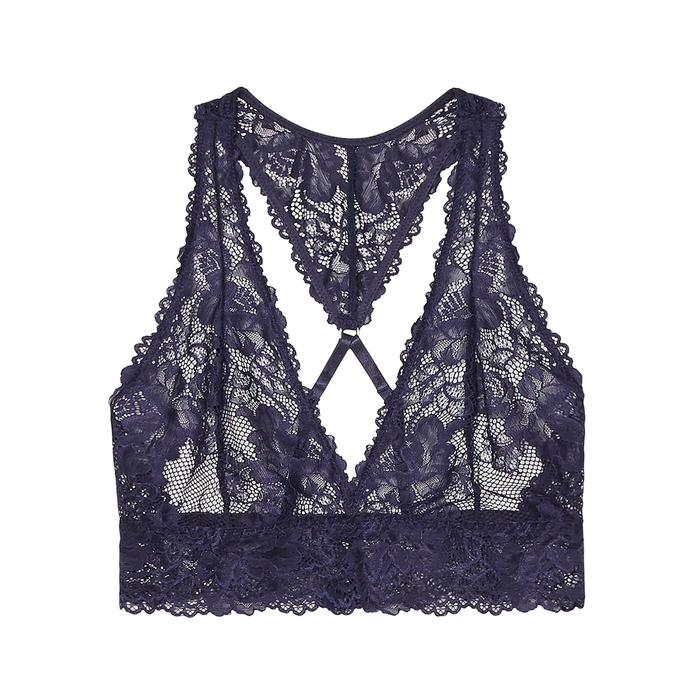 3e538a2612ee63 Savage x Fenty Lace Bralette in Blue - Lyst