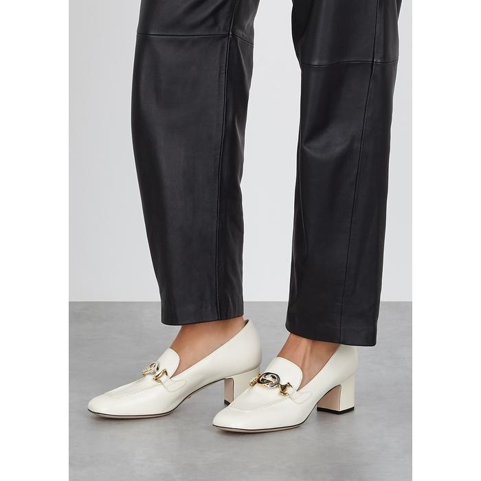 Gucci Zumi 55 Off-white Leather Loafers