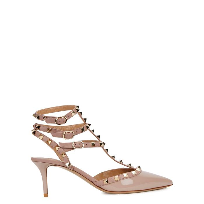788e12af12a05 Valentino Rockstud 65 Blush Patent Leather Pumps in Natural - Lyst