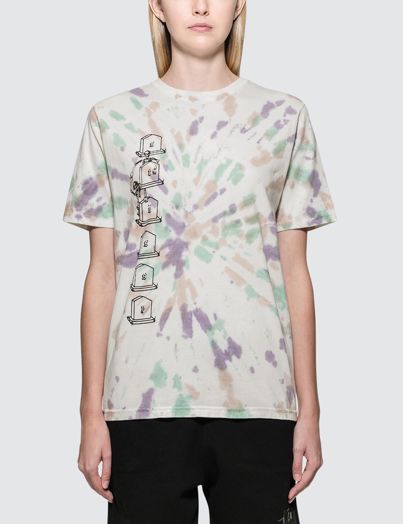 ec3a460d7a Stussy Dead Hi-five Td Short Sleeve T-shirt in Natural - Lyst