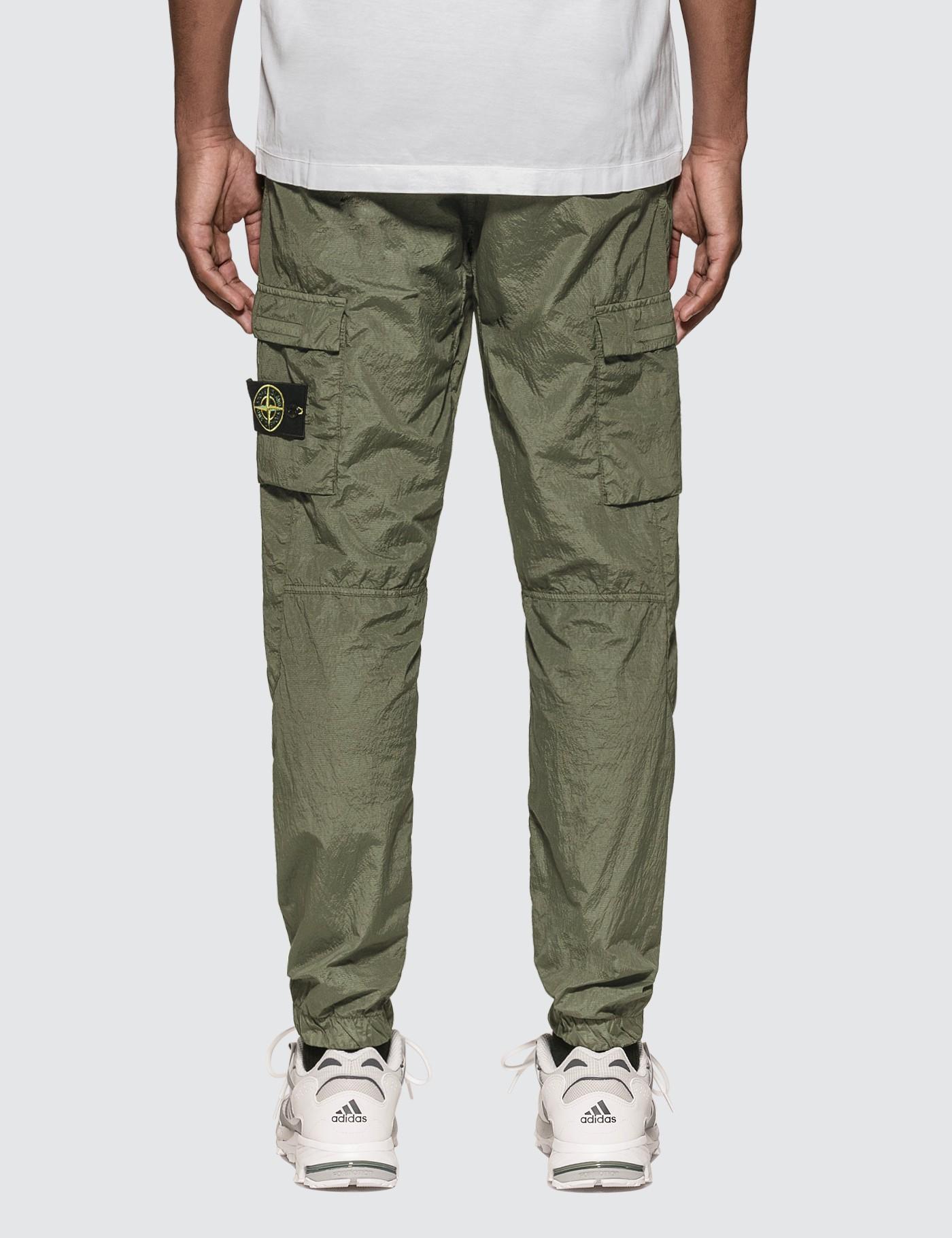 Stone Island Synthetic Nylon Seersucker Cargo Pants in ...
