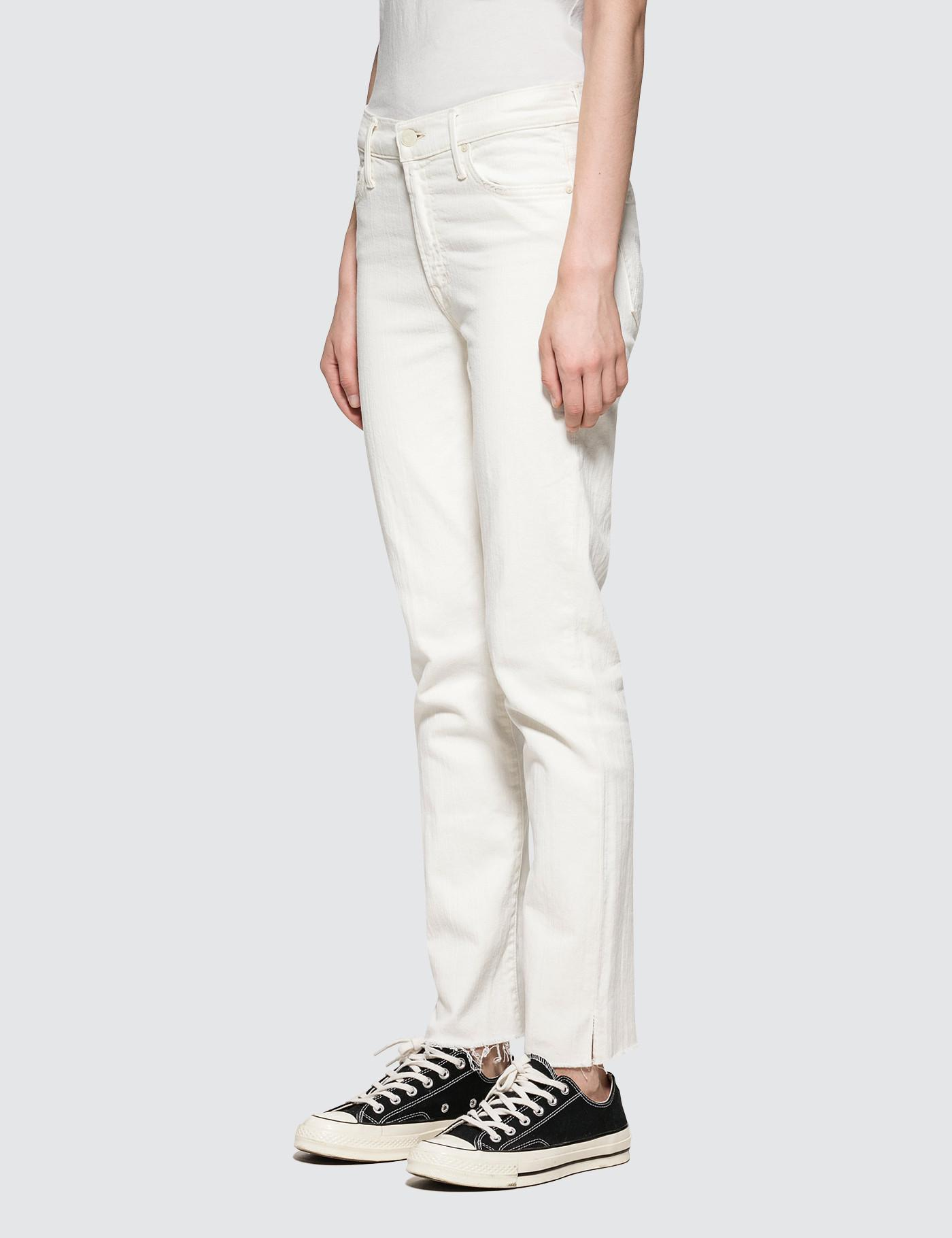 Mother Denim The Rascal Ankle Snippet Jeans in White