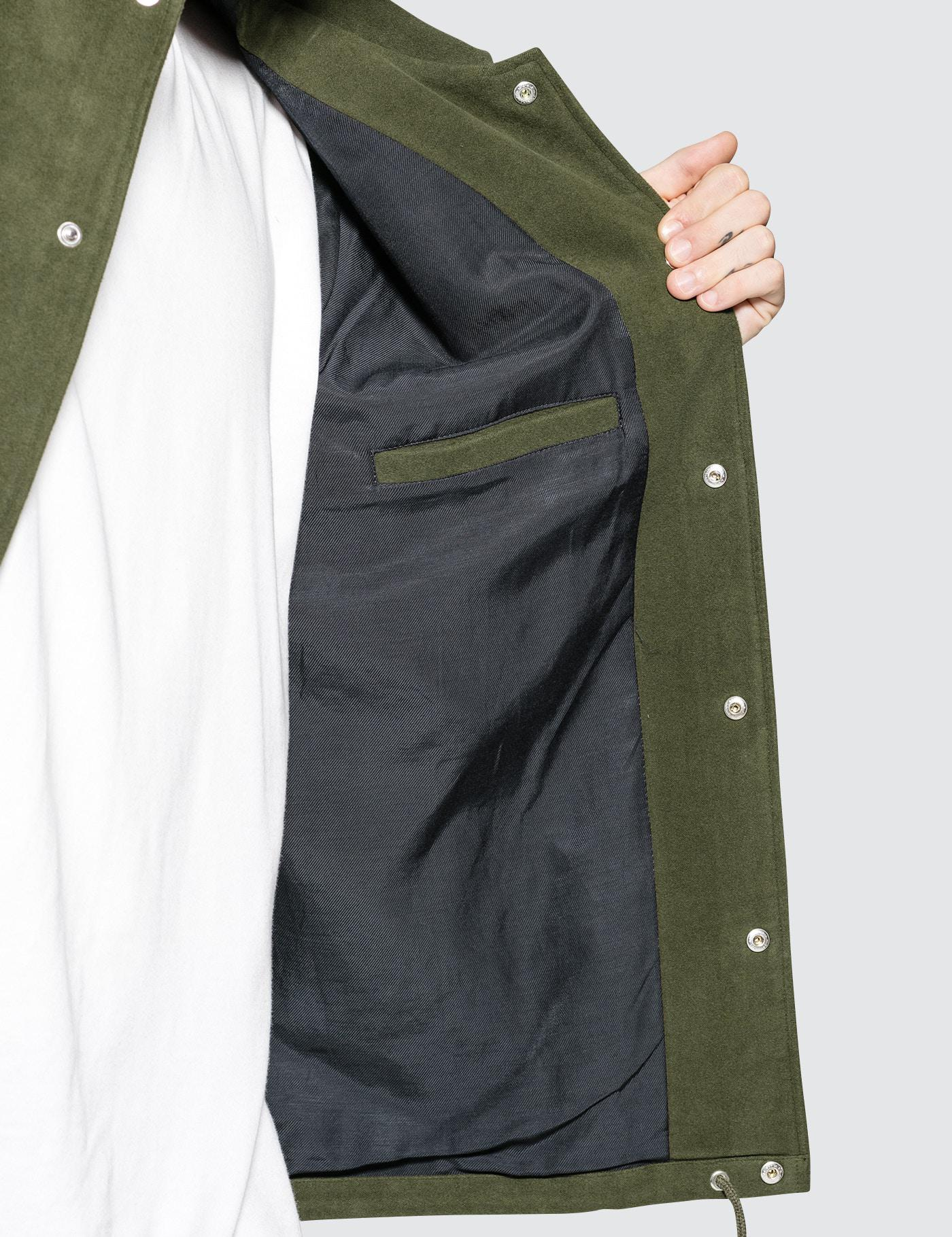 Tres Bien Cotton Moleskin Coach Jacket in Olive (Green) for Men