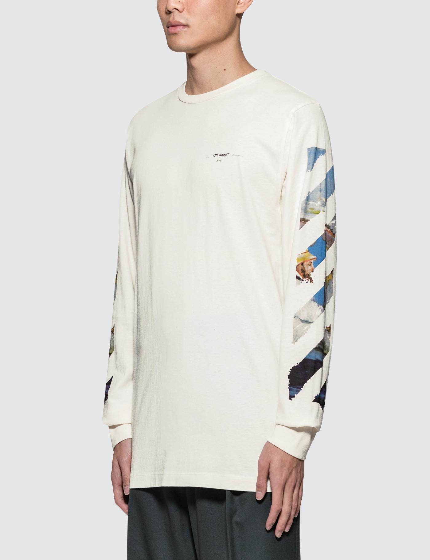 c57dae5452d0 Lyst - Off-White c o Virgil Abloh Diag Colored Arrows L s T-shirt in White  for Men