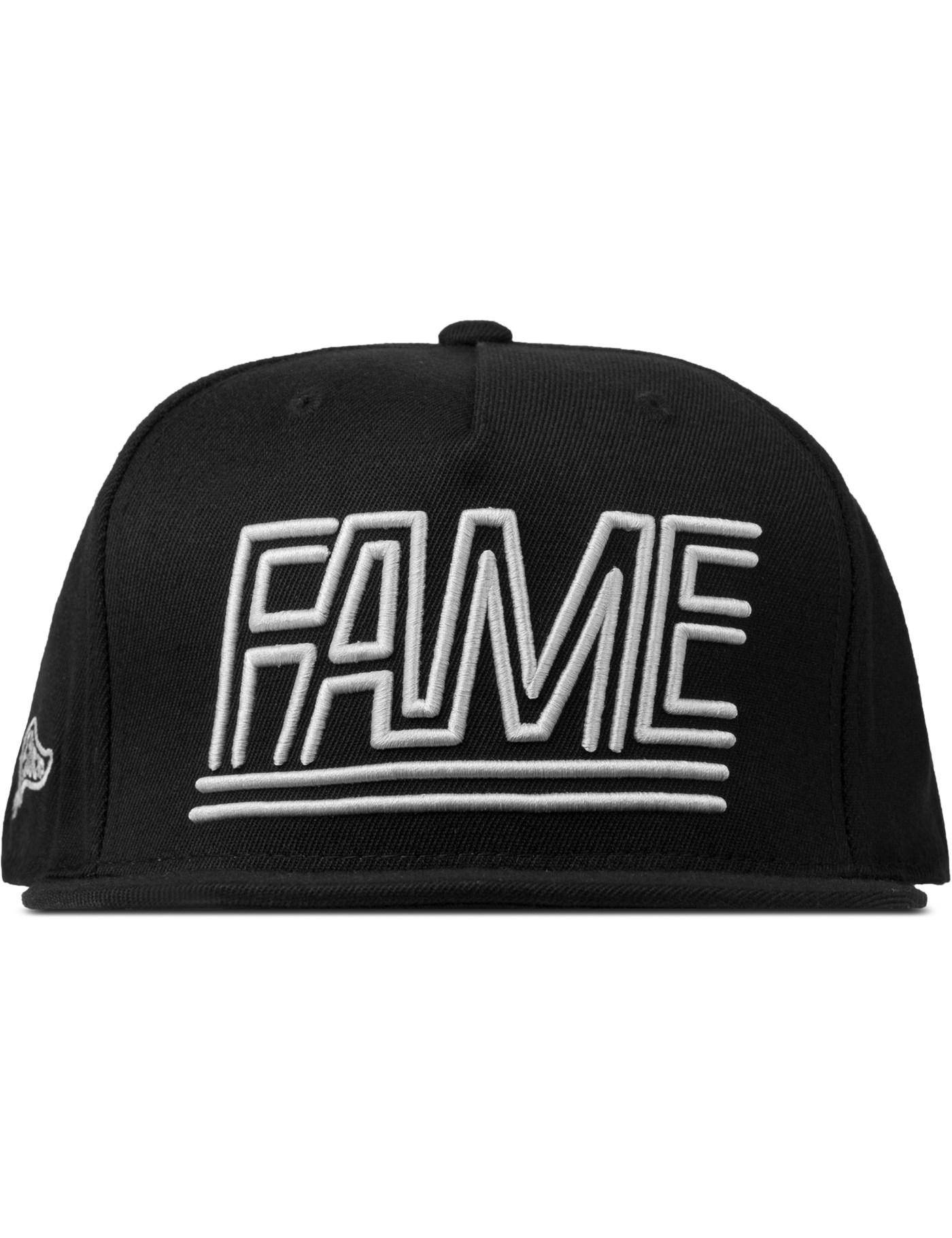 Lyst - Hall Of Fame Black Fame Lines Cap in Black for Men 66d8a6c875fc