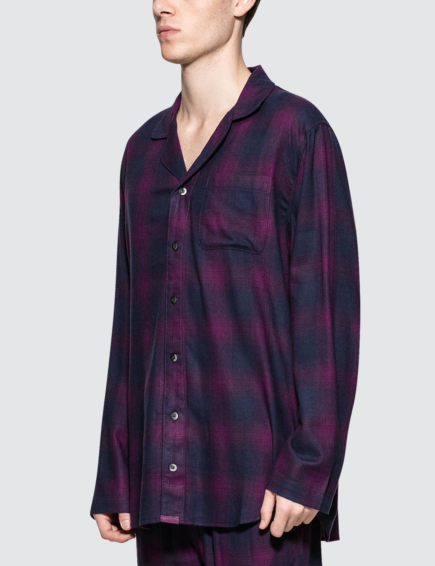 Lyst - Calvin Klein Flannel Sleeping Pants in Purple for Men 38d5a8e0b