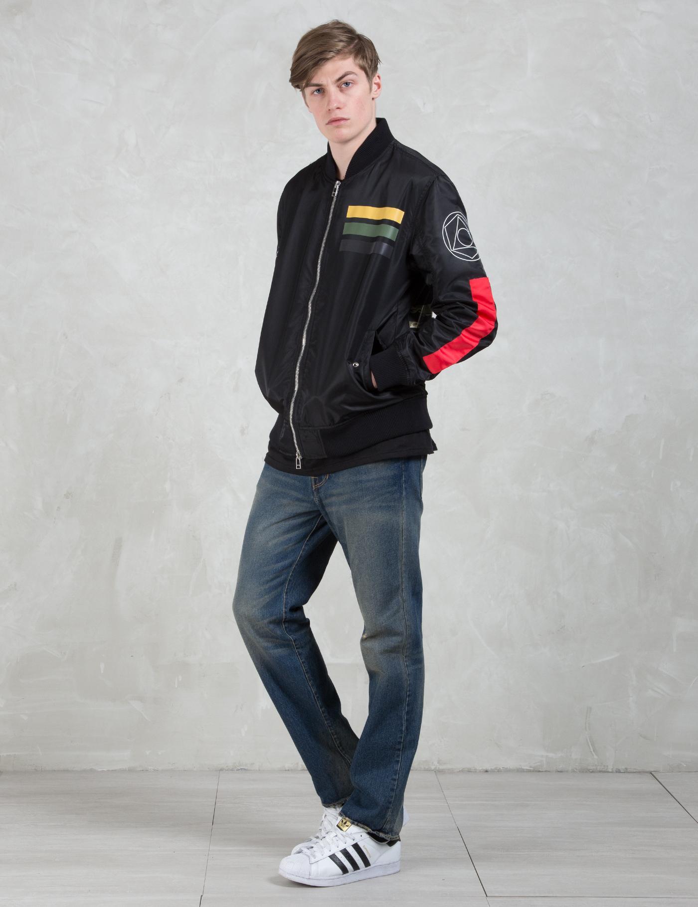 Black Scale Cotton Workmens Flight Jackets in Black for Men