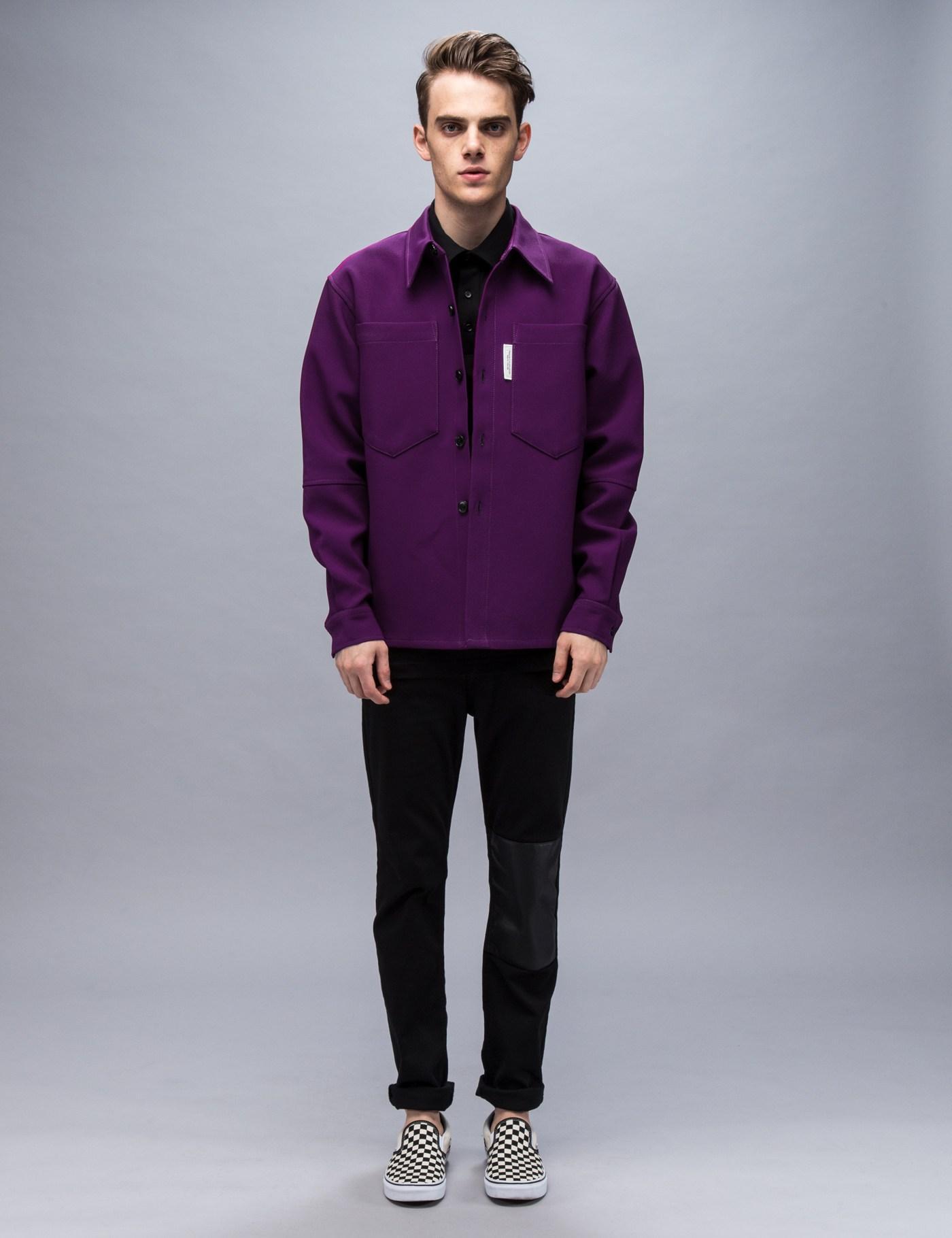 Xander Zhou Cotton Cargo Shirt Jacket for Men