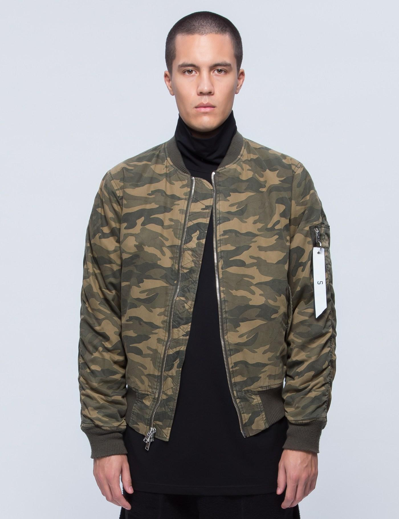 c189609d20030 Stampd Camo Washed Bomber in Brown for Men - Lyst