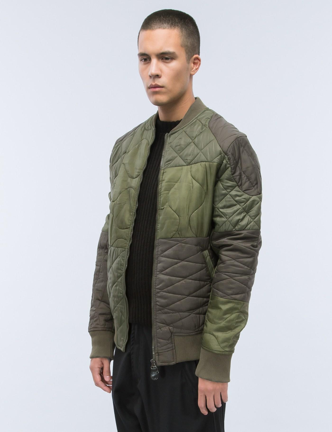 Maharishi Upcycled Liner Bomber Jacket in Brown for Men