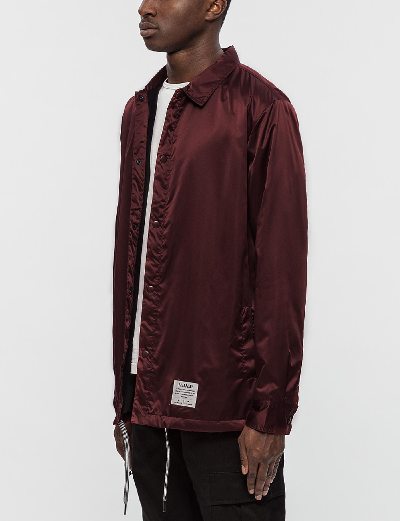 FairPlay Satin Fitzroy Coach Jacket for Men