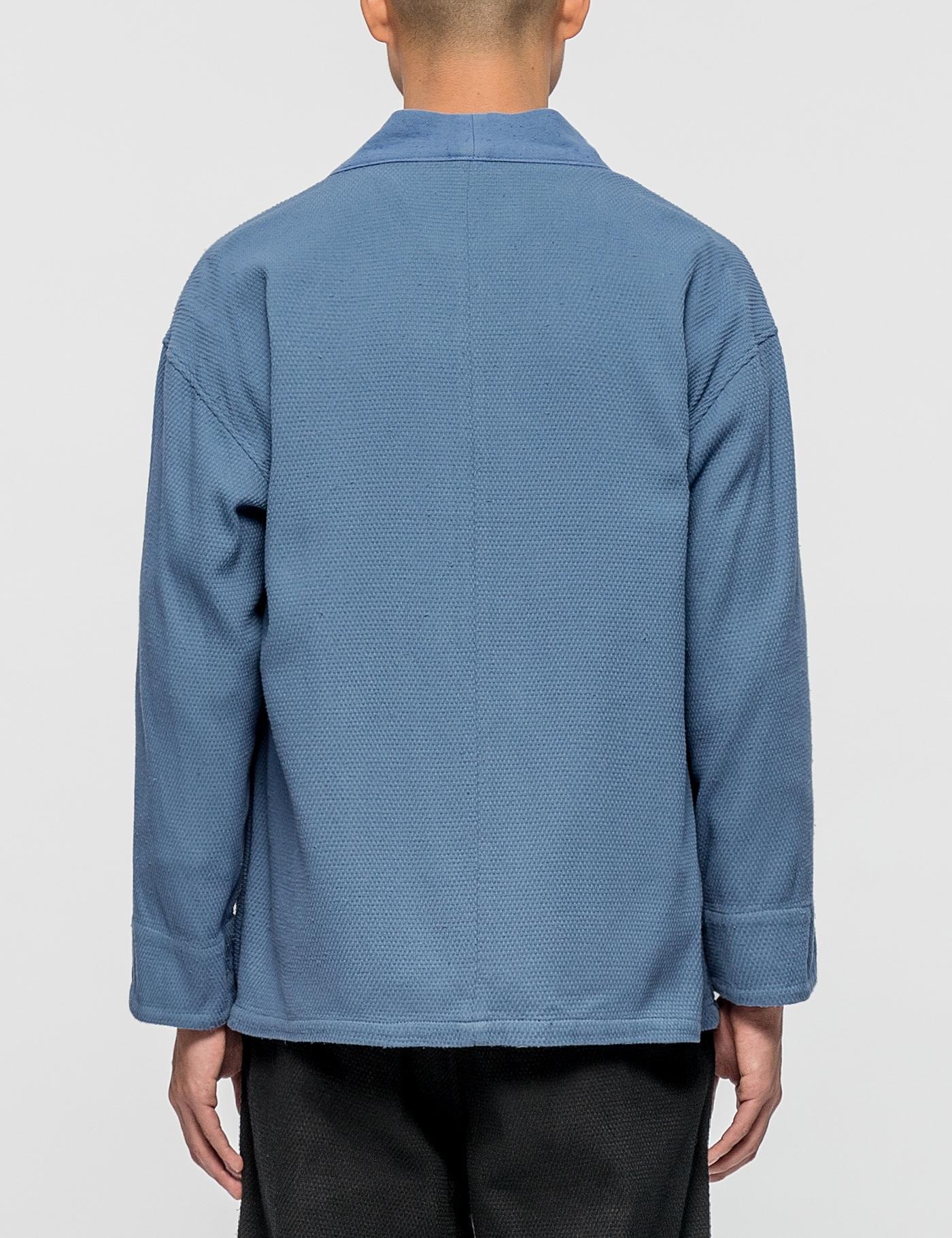 Sasquatchfabrix Cotton Sashiko Hanten Jacket in Blue for Men