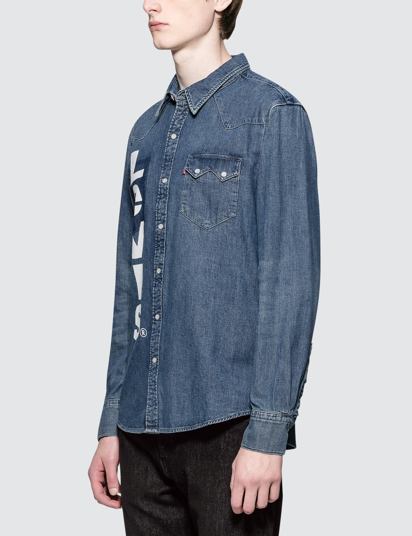353c8fdca2 Lyst - Levi s Unbasic Sawtooth Shirt in Blue for Men
