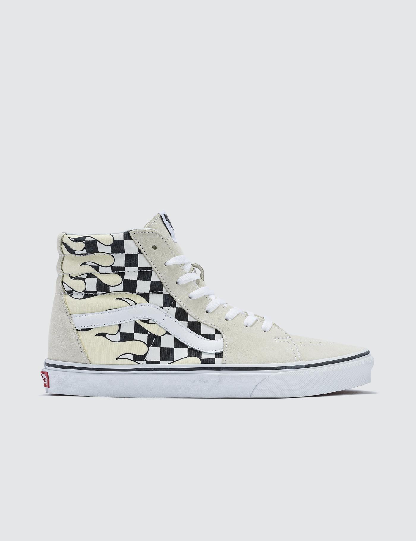 Vans Sk8-hi in White for Men - Lyst 2f51c6c0d