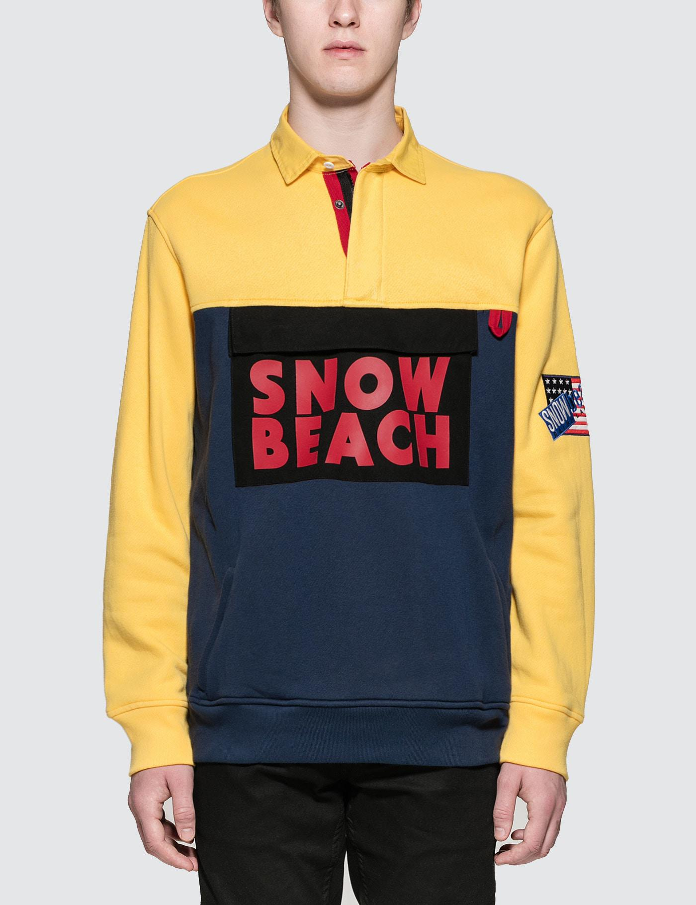 Polo Ralph Lauren The Snow Beach Fleece Rugby Shirt For