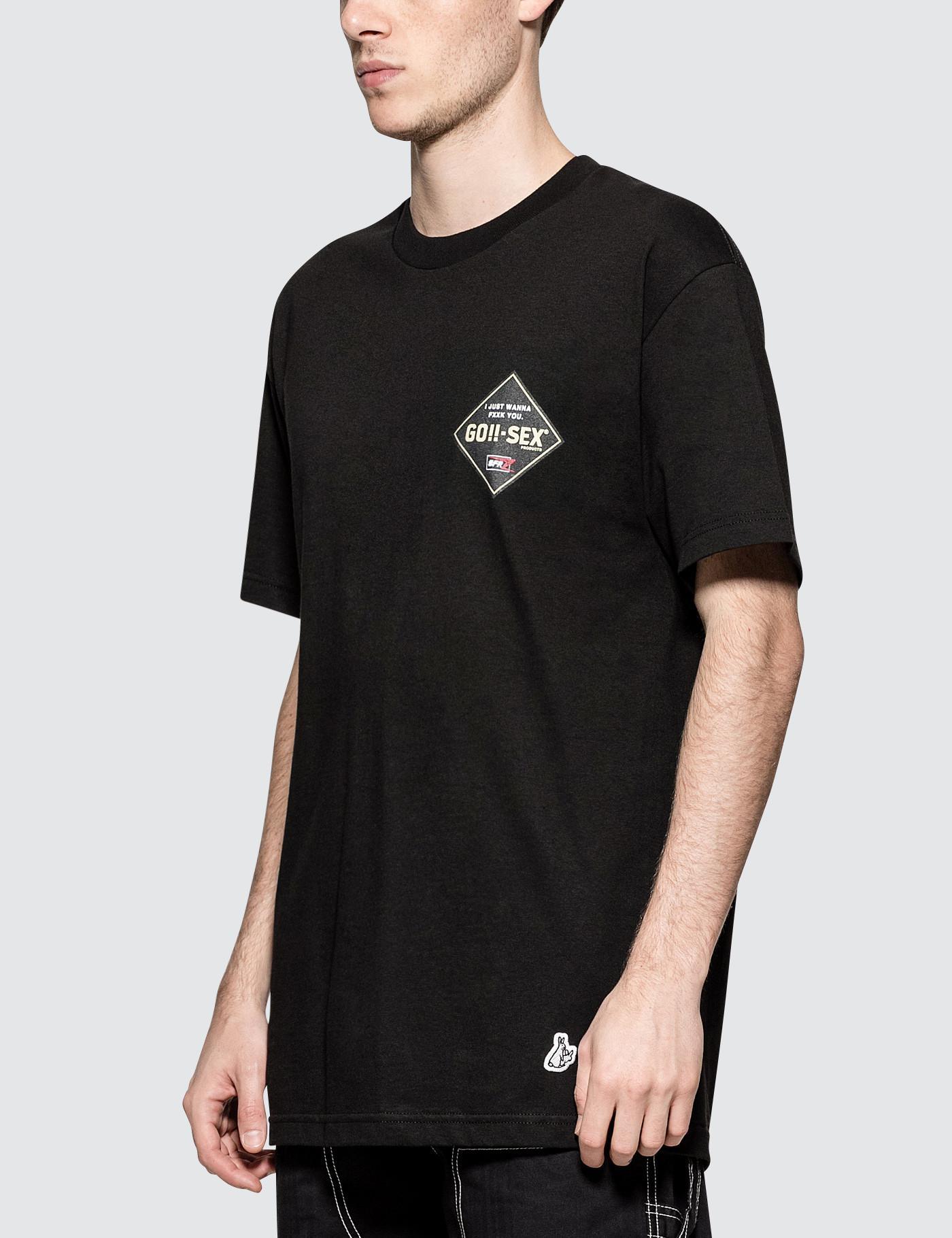 3b1bbbdbc79 FR2 Go-sex S s T-shirt in Black for Men - Lyst