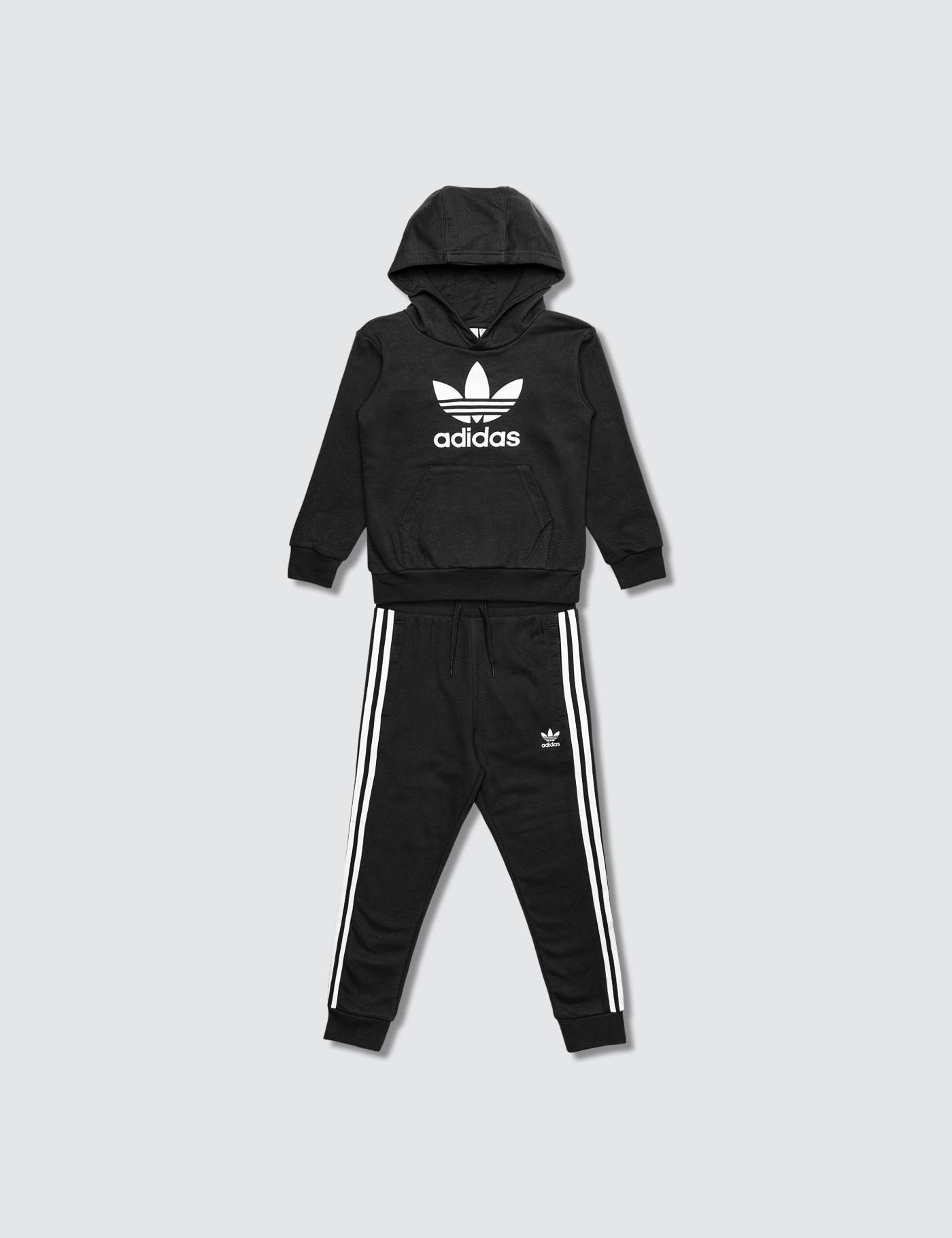 adidas hoodie black pants