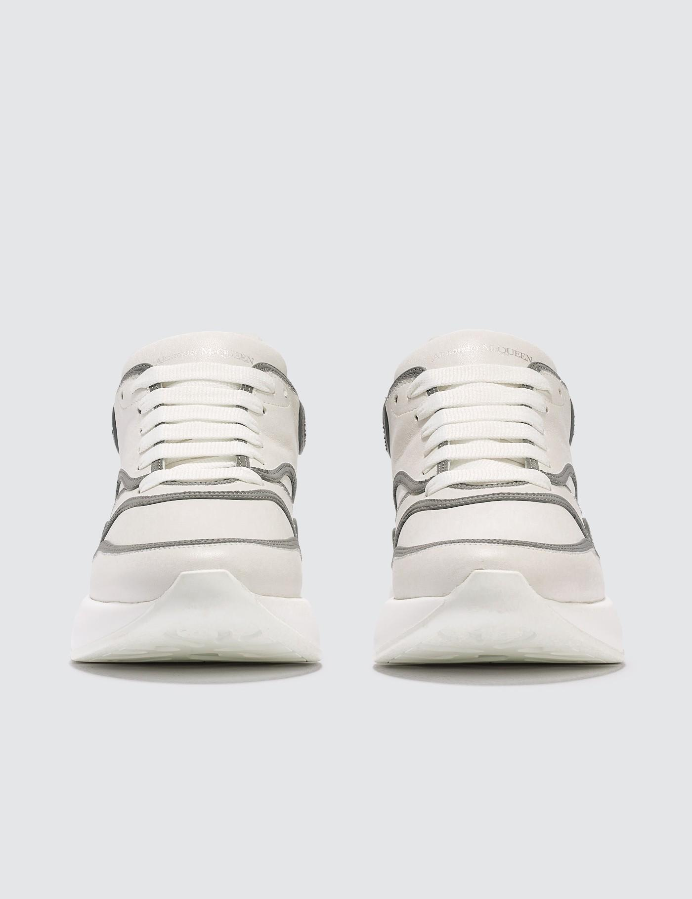 a29b6824f924 Lyst - Alexander McQueen Chunky Sneakers With Silver Lining in White for Men