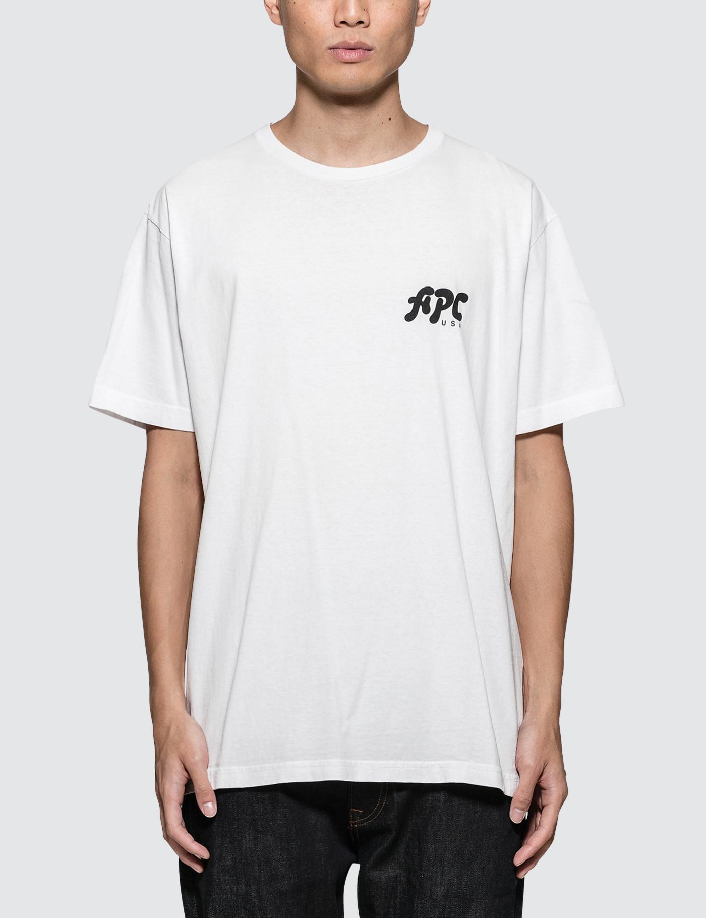3e6cbcf25f21 A.P.C. Richie S s T-shirt in White for Men - Lyst