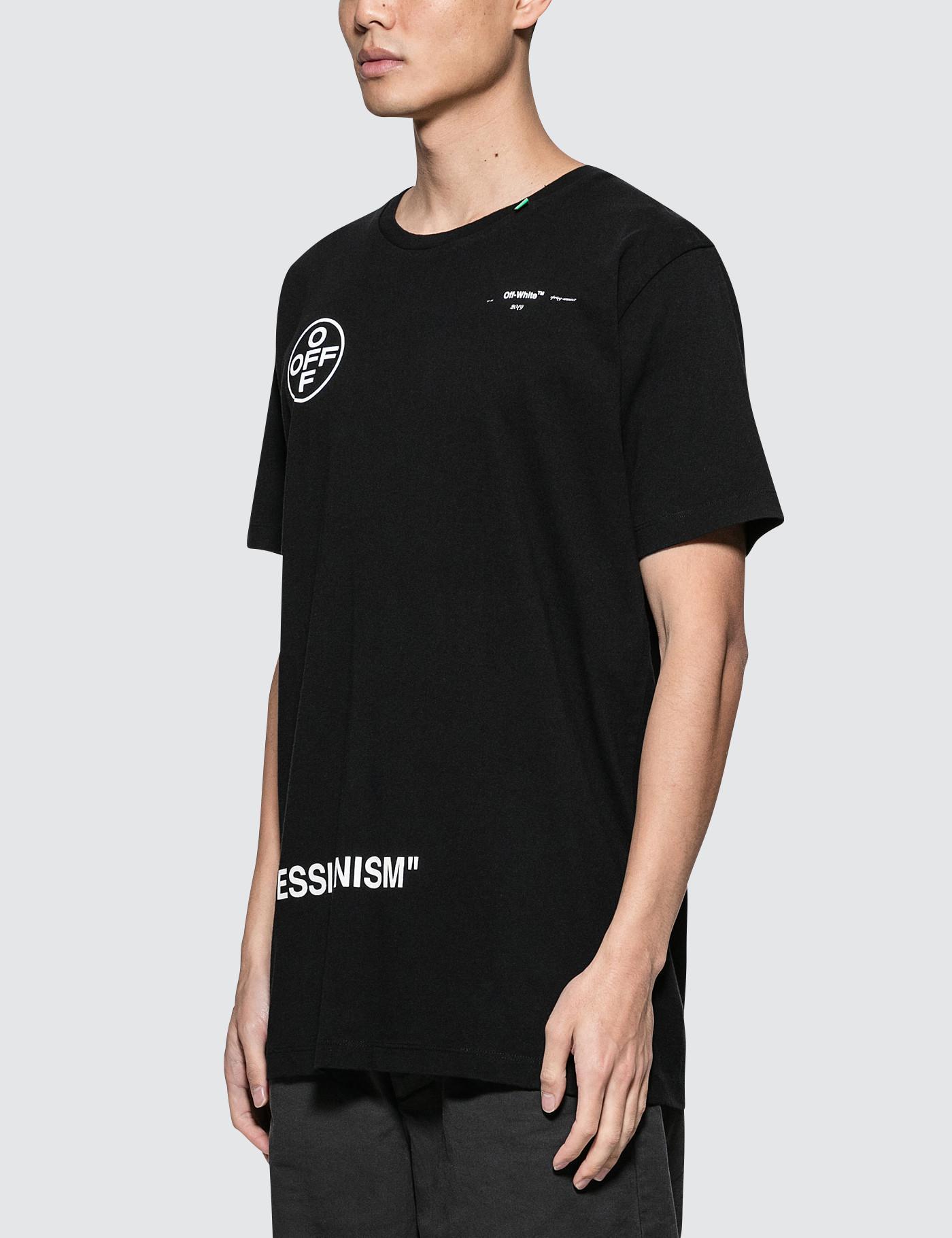 305ed0fa1b0f Off-White c o Virgil Abloh Stencil S s Slim T-shirt in Black for Men - Lyst