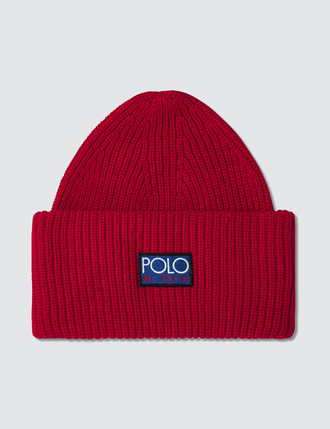 Lyst - Polo Ralph Lauren Hi Tech Beanie in Red for Men - Save 31% 916116ee253