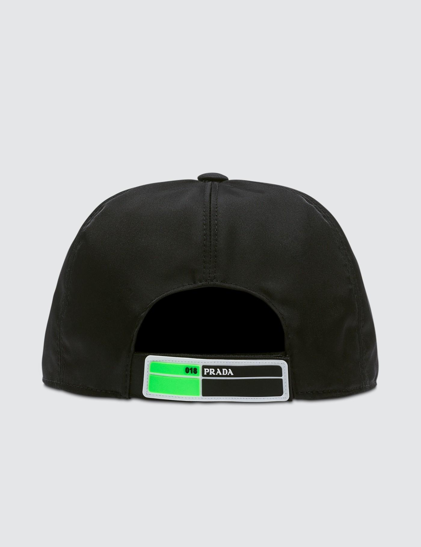 d411fc27fba76 Lyst - Prada Fluro Cap in Green for Men