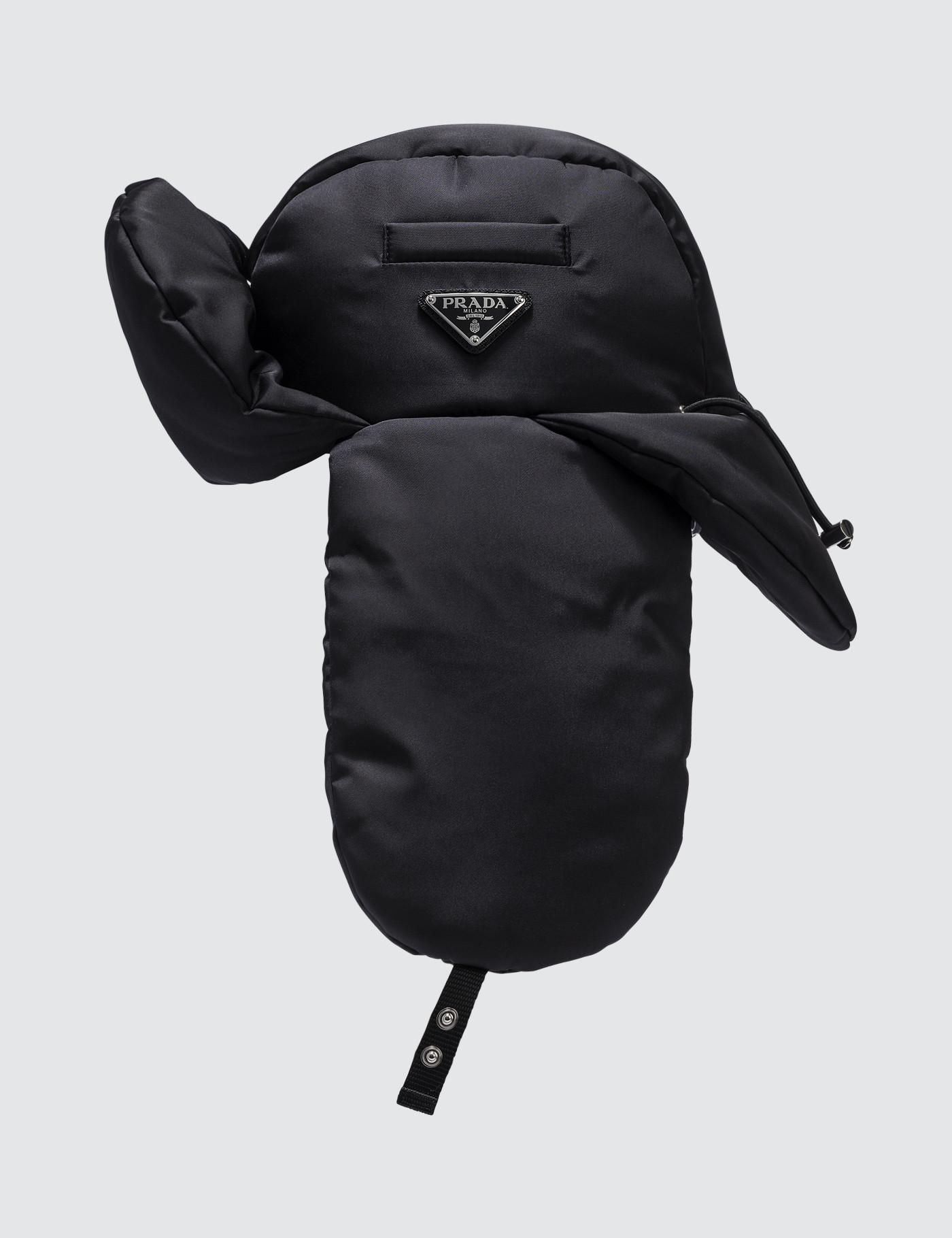 985c10cbb3ad4 Prada Padded Nylon Gabardine Hat in Black for Men - Lyst