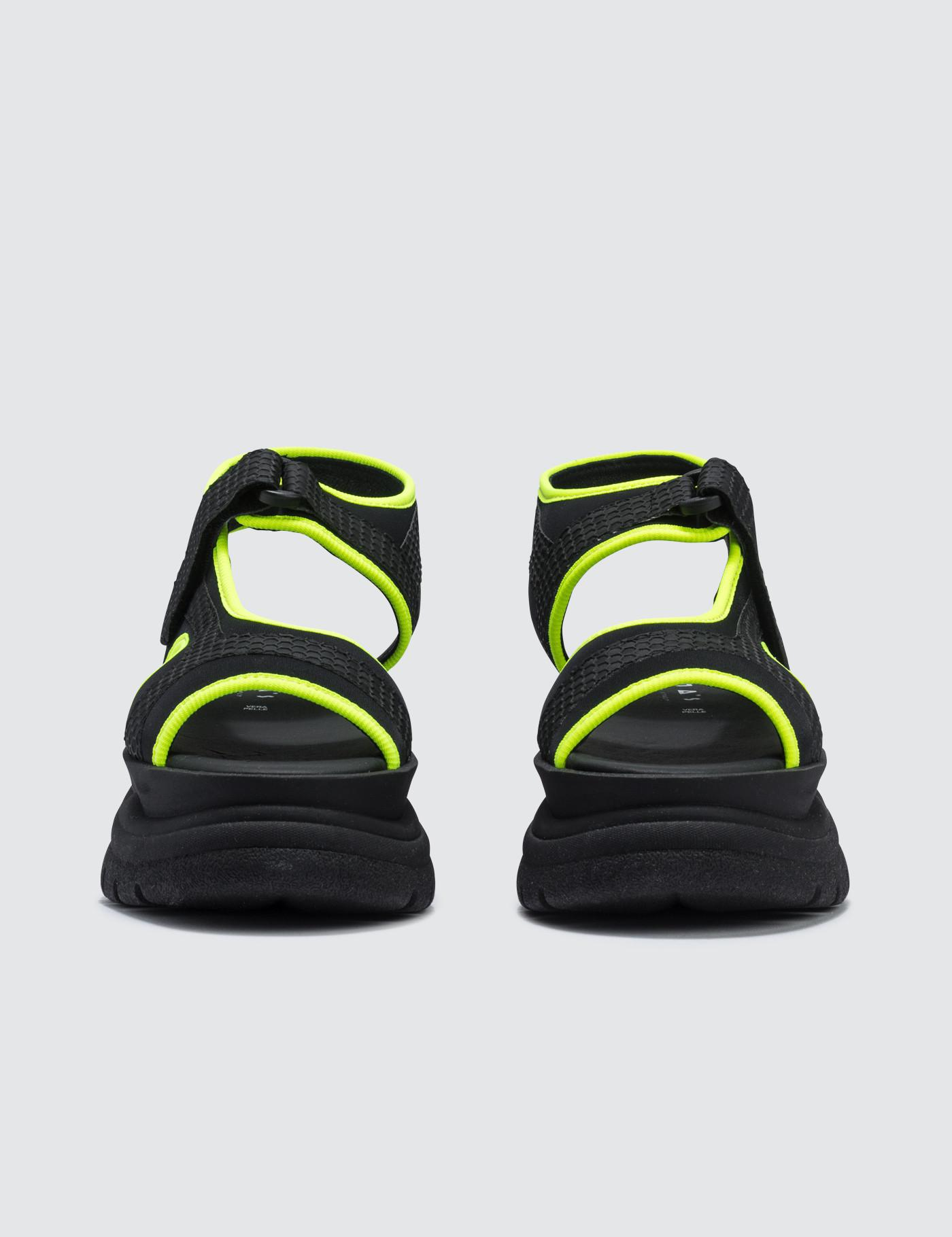 c7a9de066b66 Lyst - Joshua Sanders Yellow Spice Scuba Sandals in Black