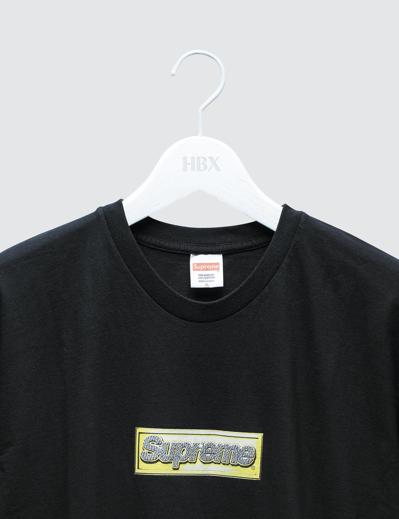 Supreme Gold Bling Box Logo Tee | Chibi Bread