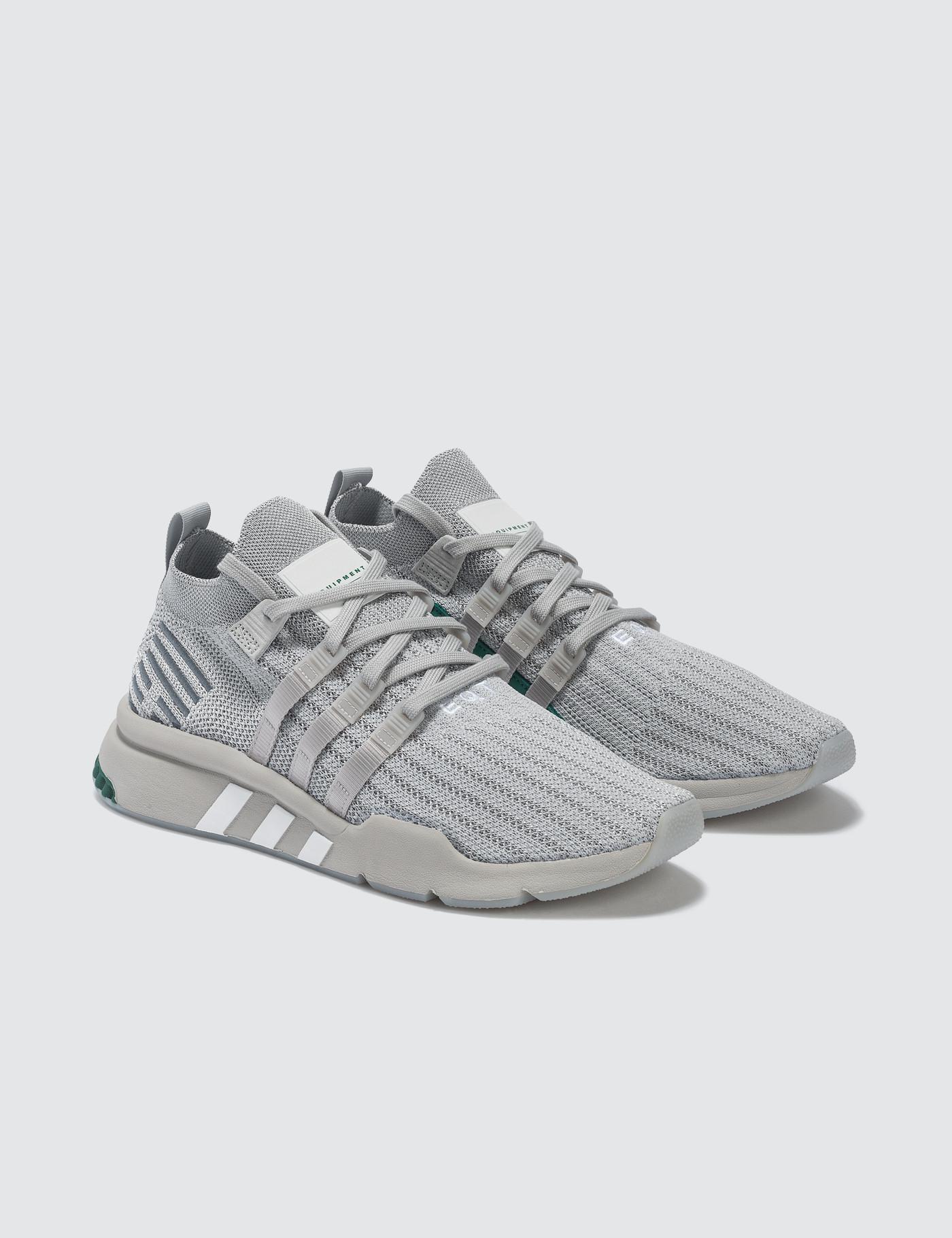 adidas Originals Lace Eqt Support Mid Adv Primeknit in Grey (Grey) for Men