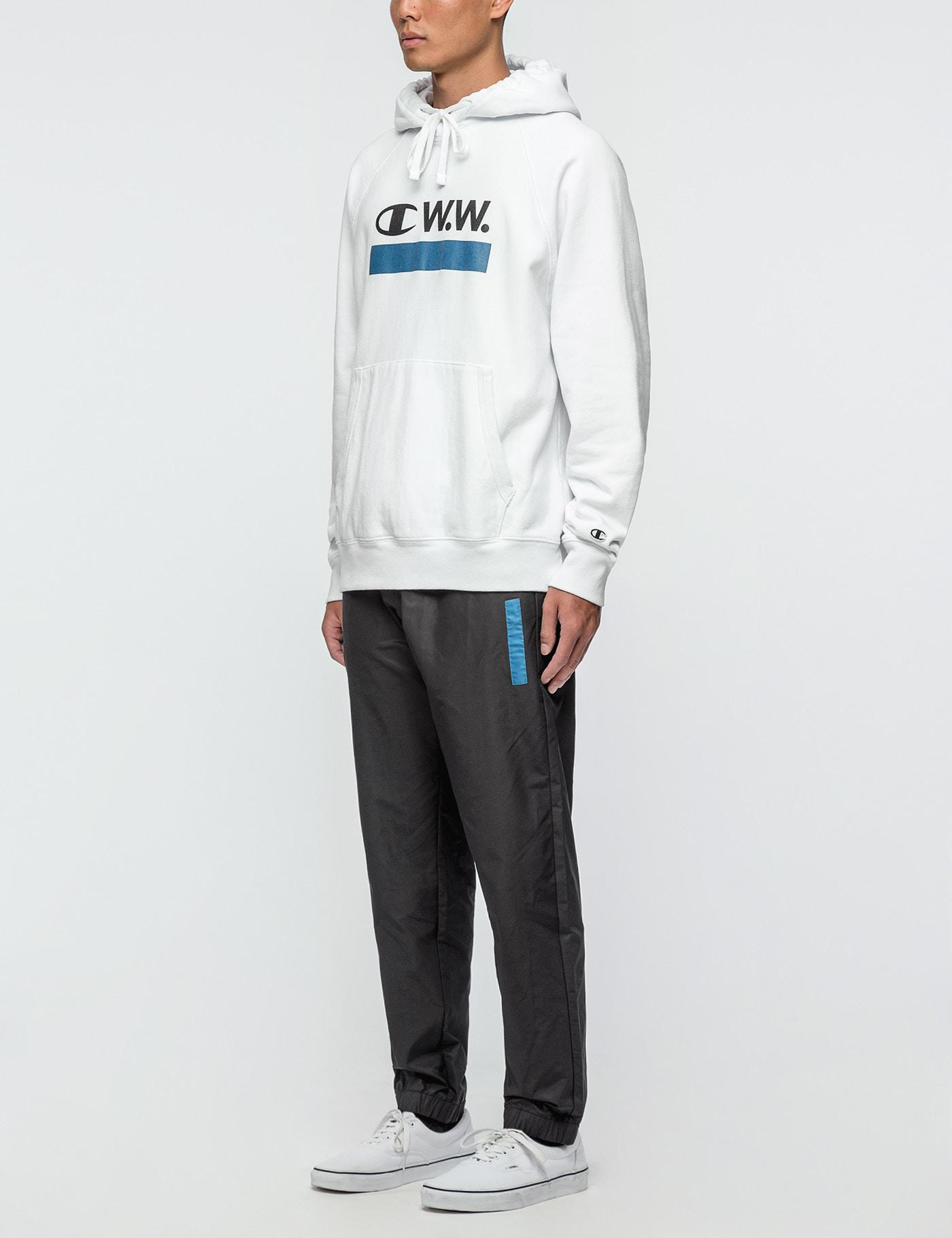 Champion Champion X Wood Wood Hoodie in White for Men - Lyst