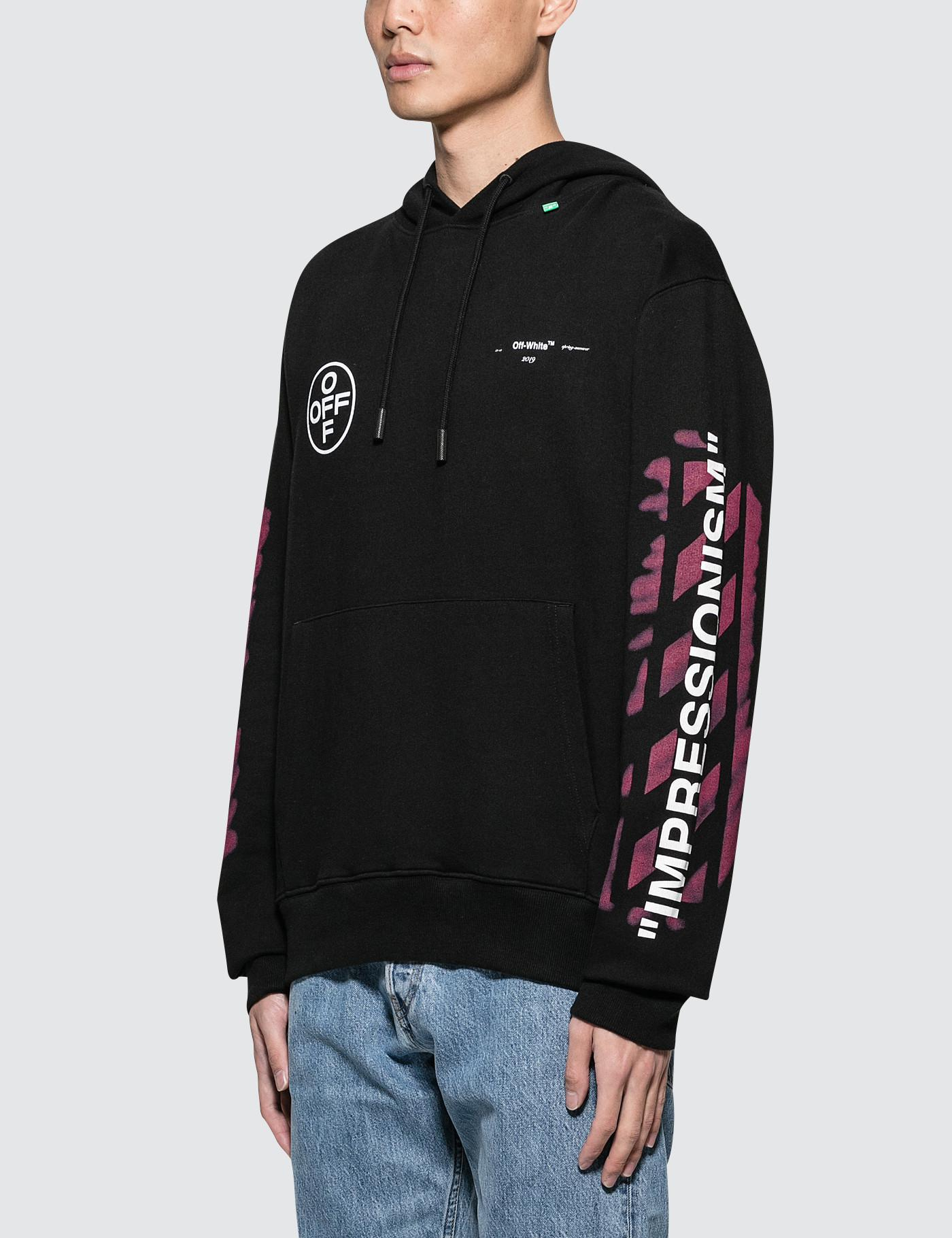 0e2e1946929f Off-White c o Virgil Abloh Diag Stencil Slim Hoodie in Black for Men - Lyst