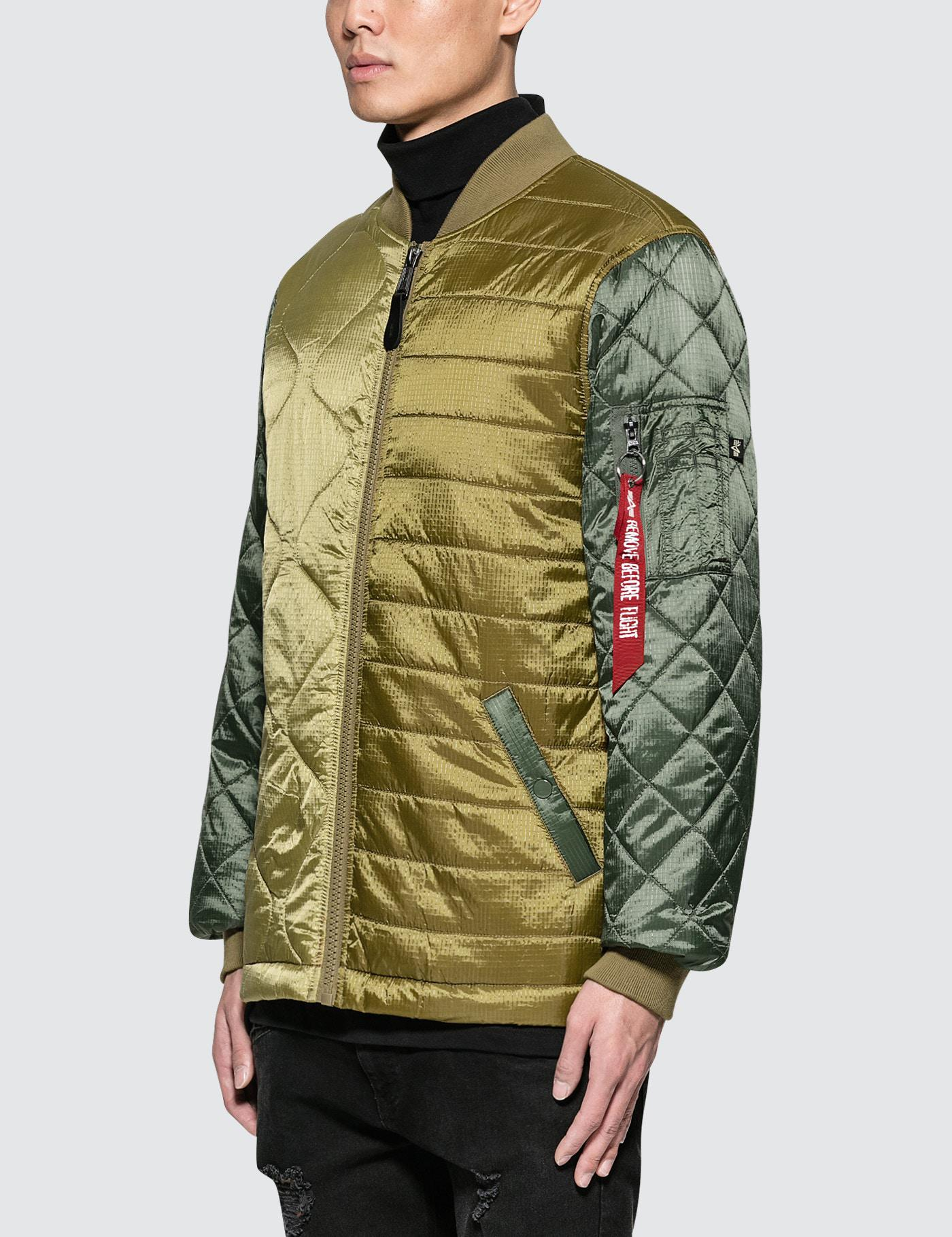 Lyst Alpha Industries Ally Bomber Jacket In Green For Men