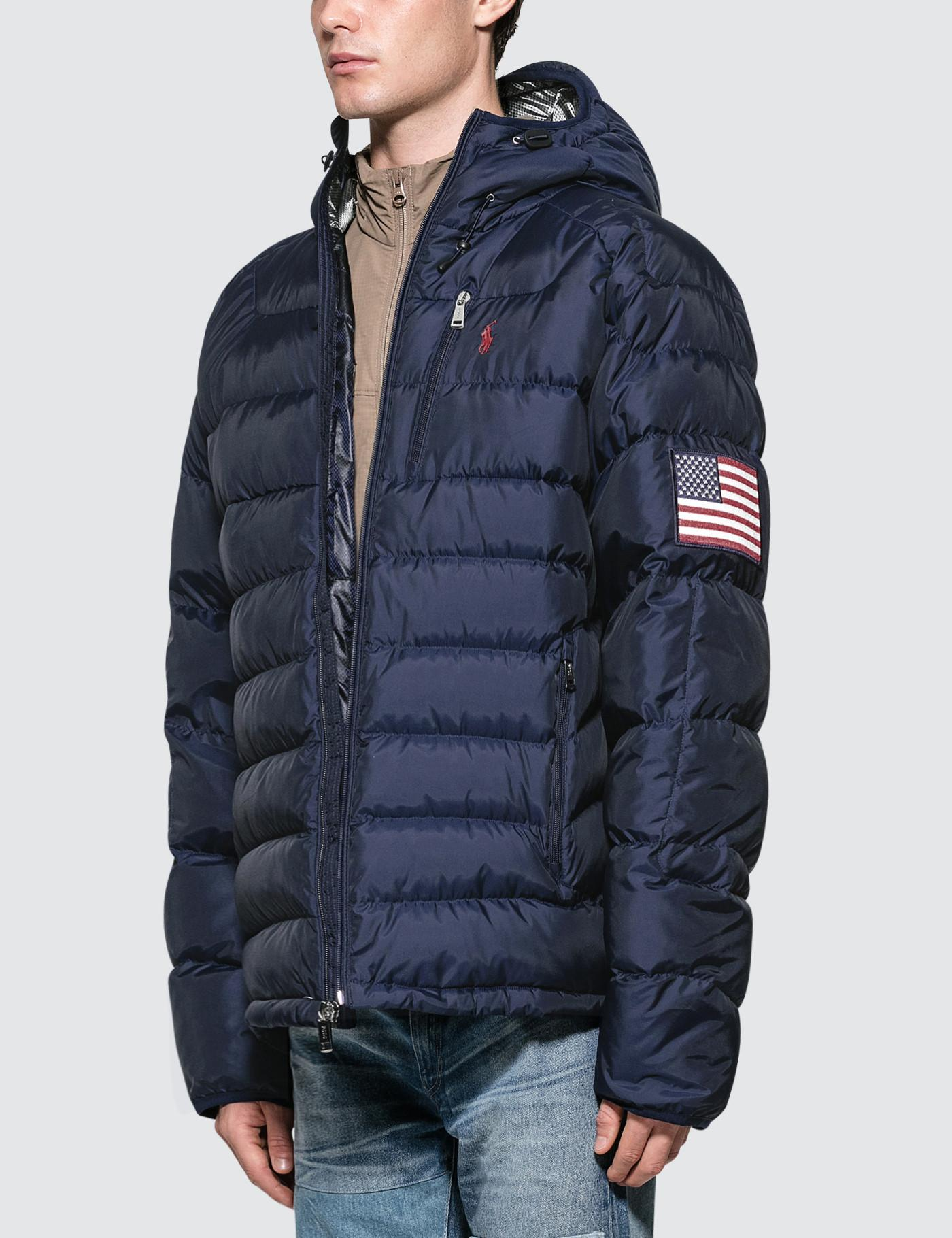 bad61f0d0053 Lyst - Polo Ralph Lauren Glacier Heated Down Jacket in Blue for Men - Save  21%