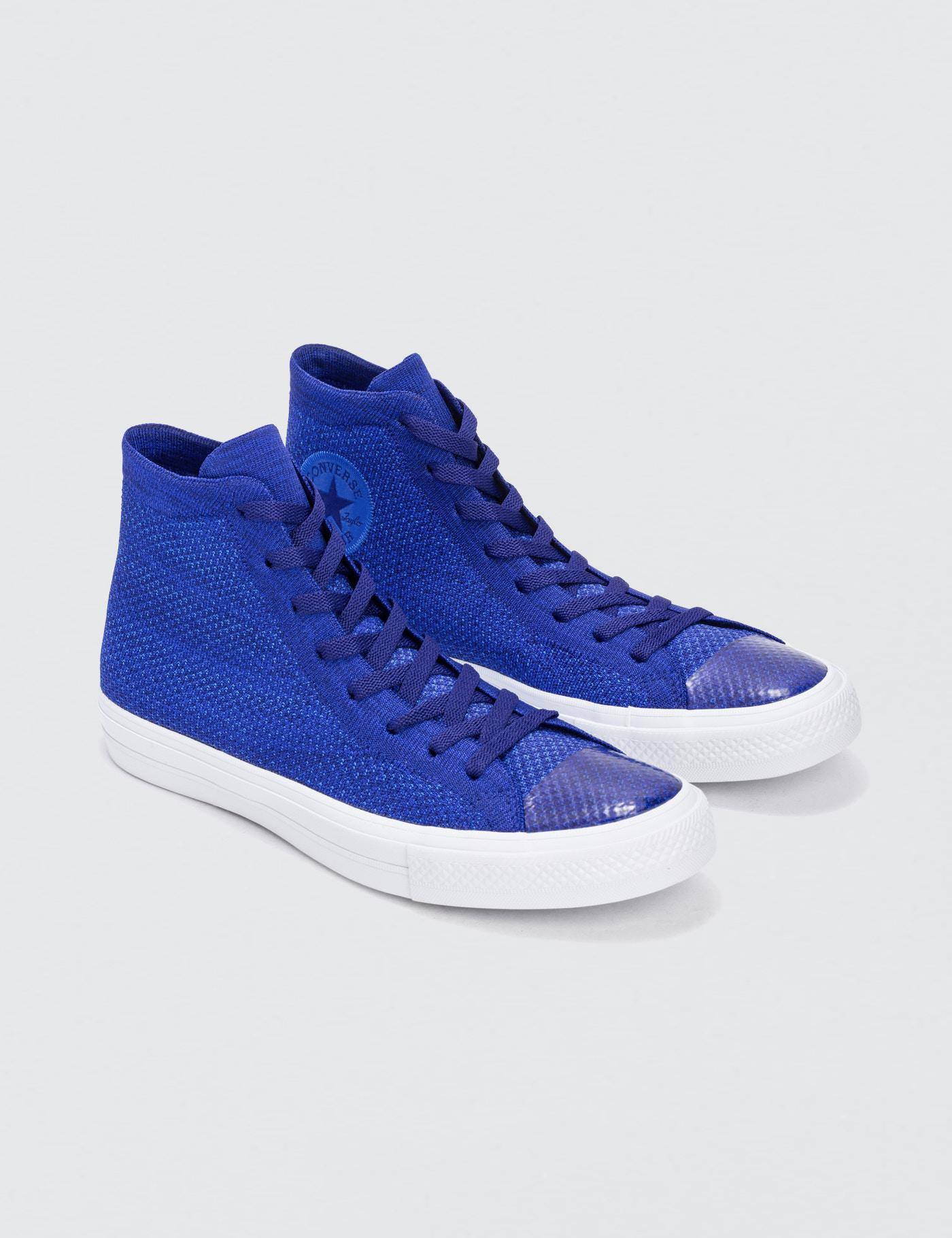 6329a80dc7c3d6 Lyst - Converse Chuck Taylor All Star X Nike Flyknit in Blue for Men