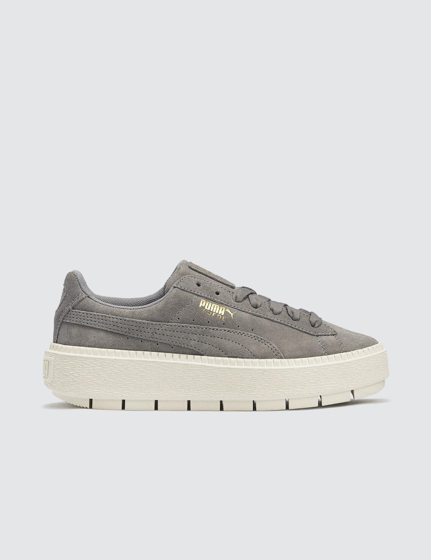 puma suede platform trace grey
