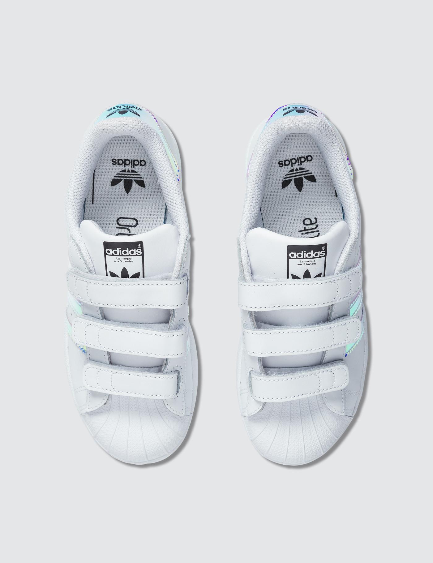 3d39a47d155f Lyst - adidas Originals Superstar Cf Children in White