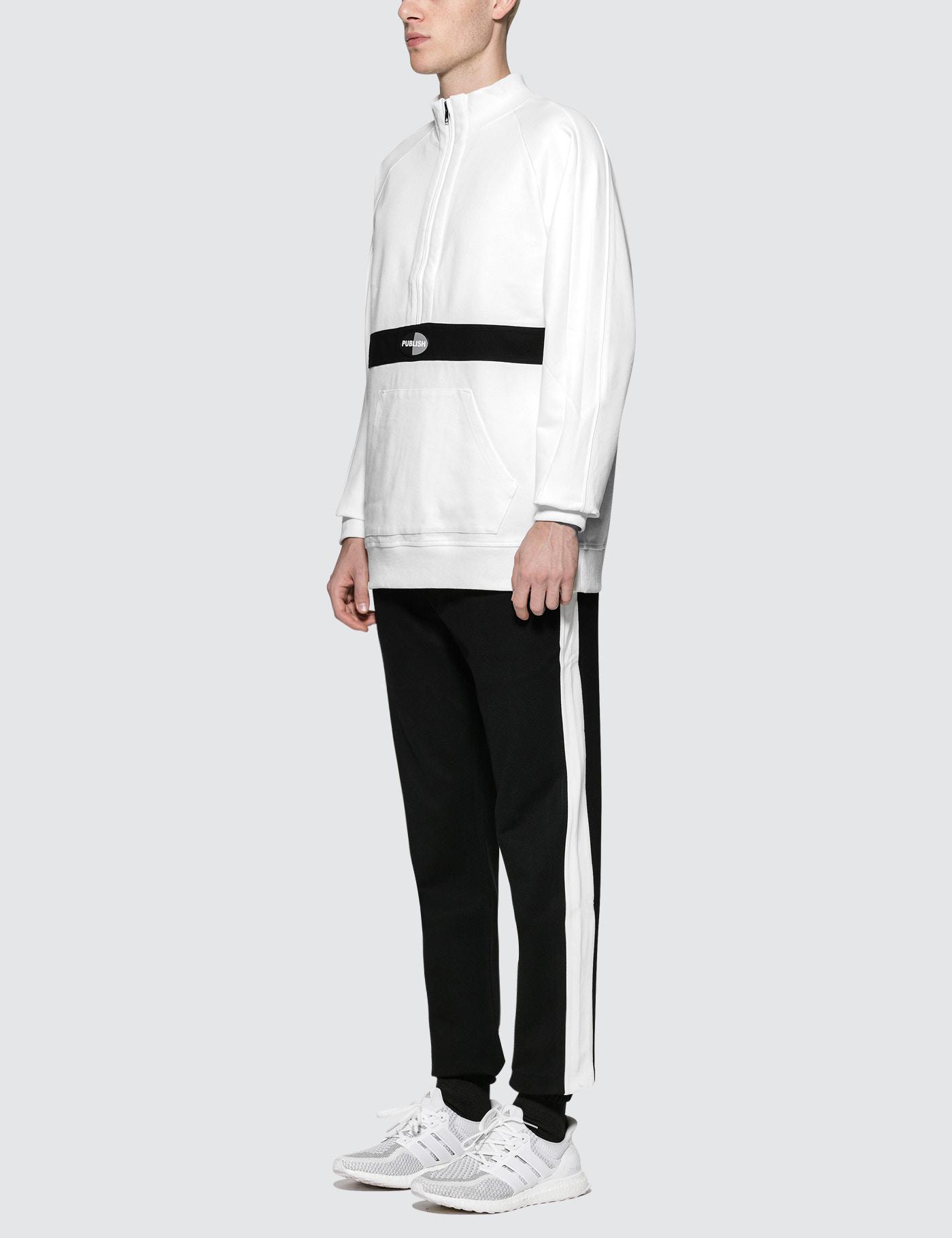 Publish Fleece Kadam Mock Anorak in White for Men