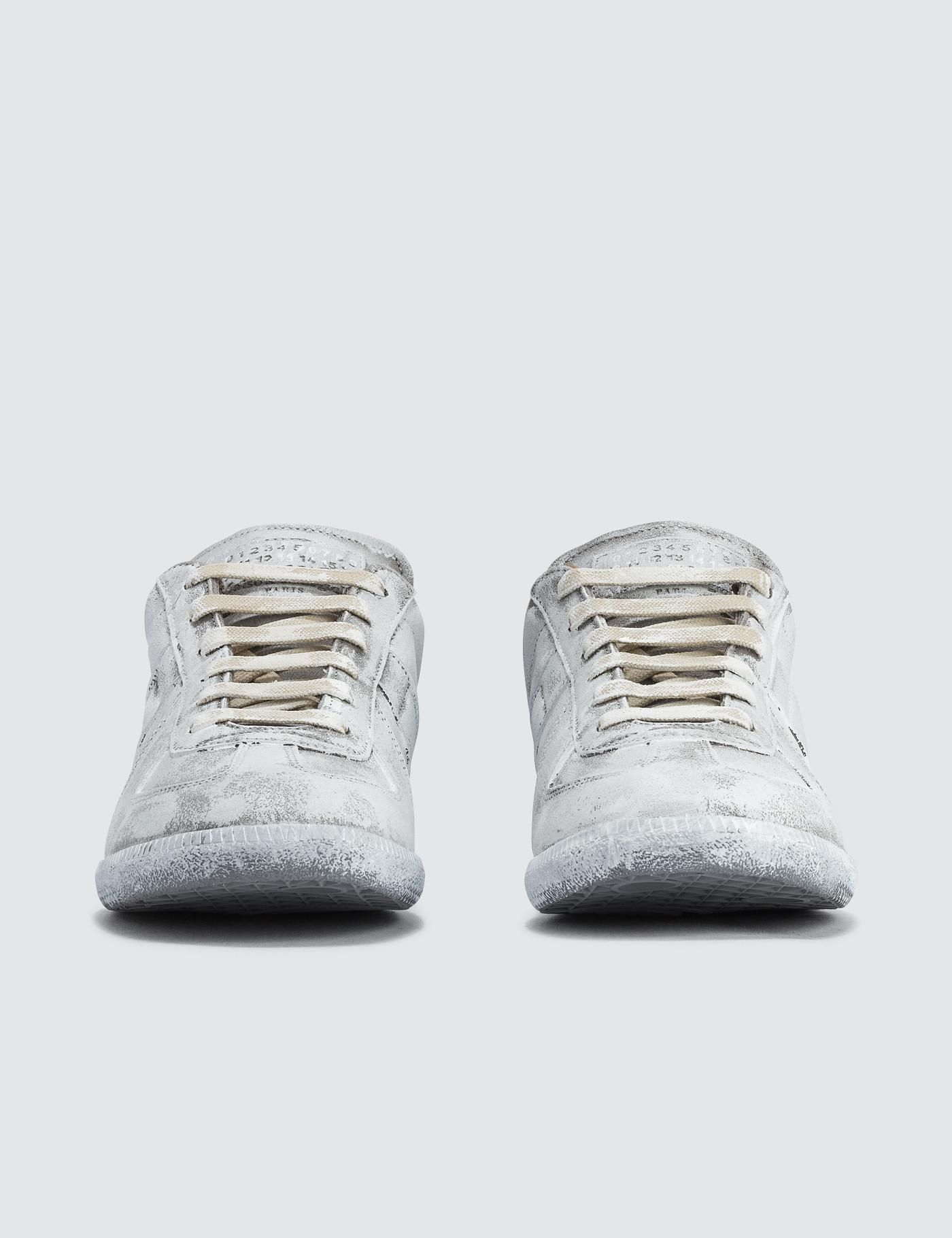 Maison Margiela Replica Leather Low Top Sneakers in Grey (Grey) for Men