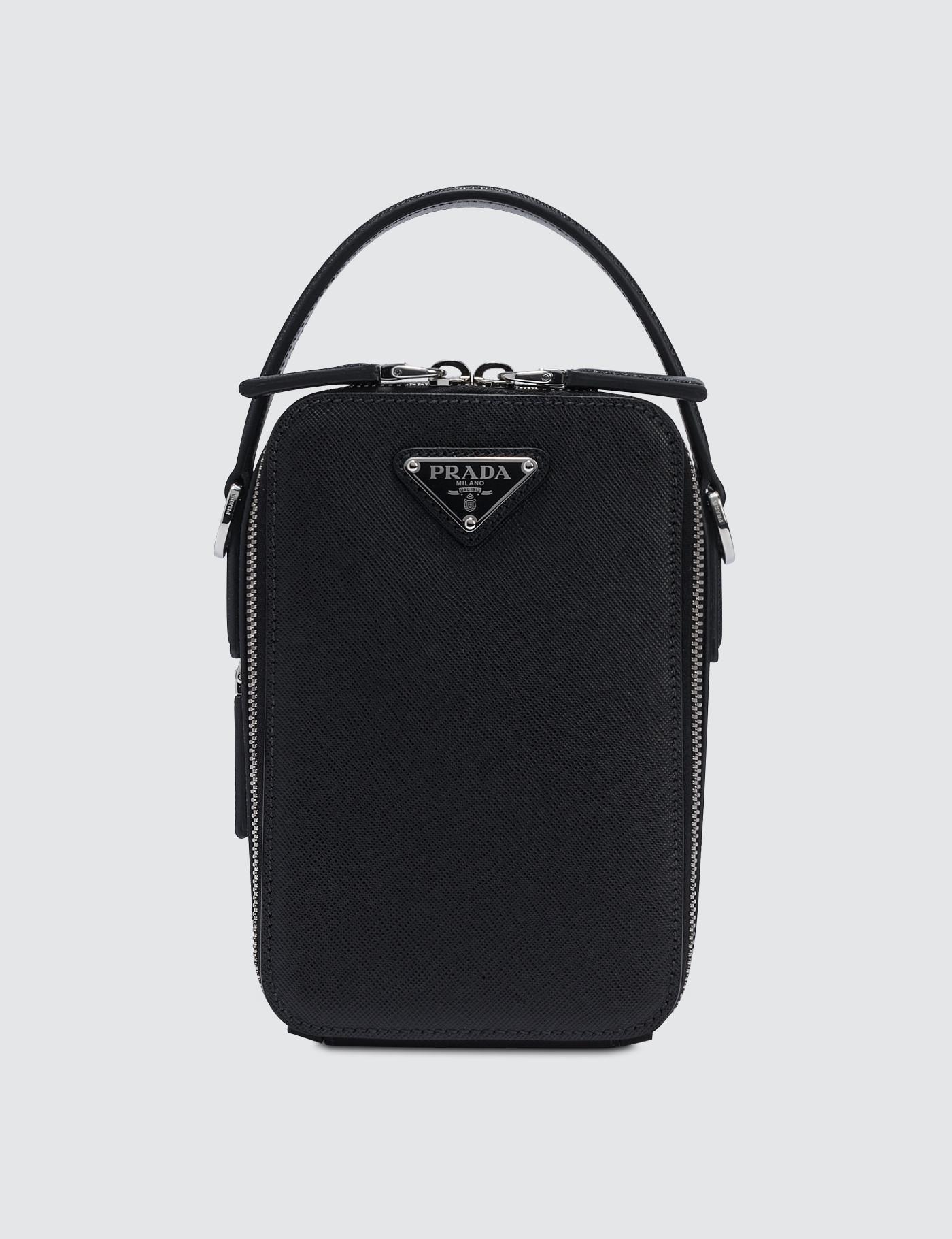 Prada Cross Body Bag in Black for Men - Save 7% - Lyst b10b698469bd7