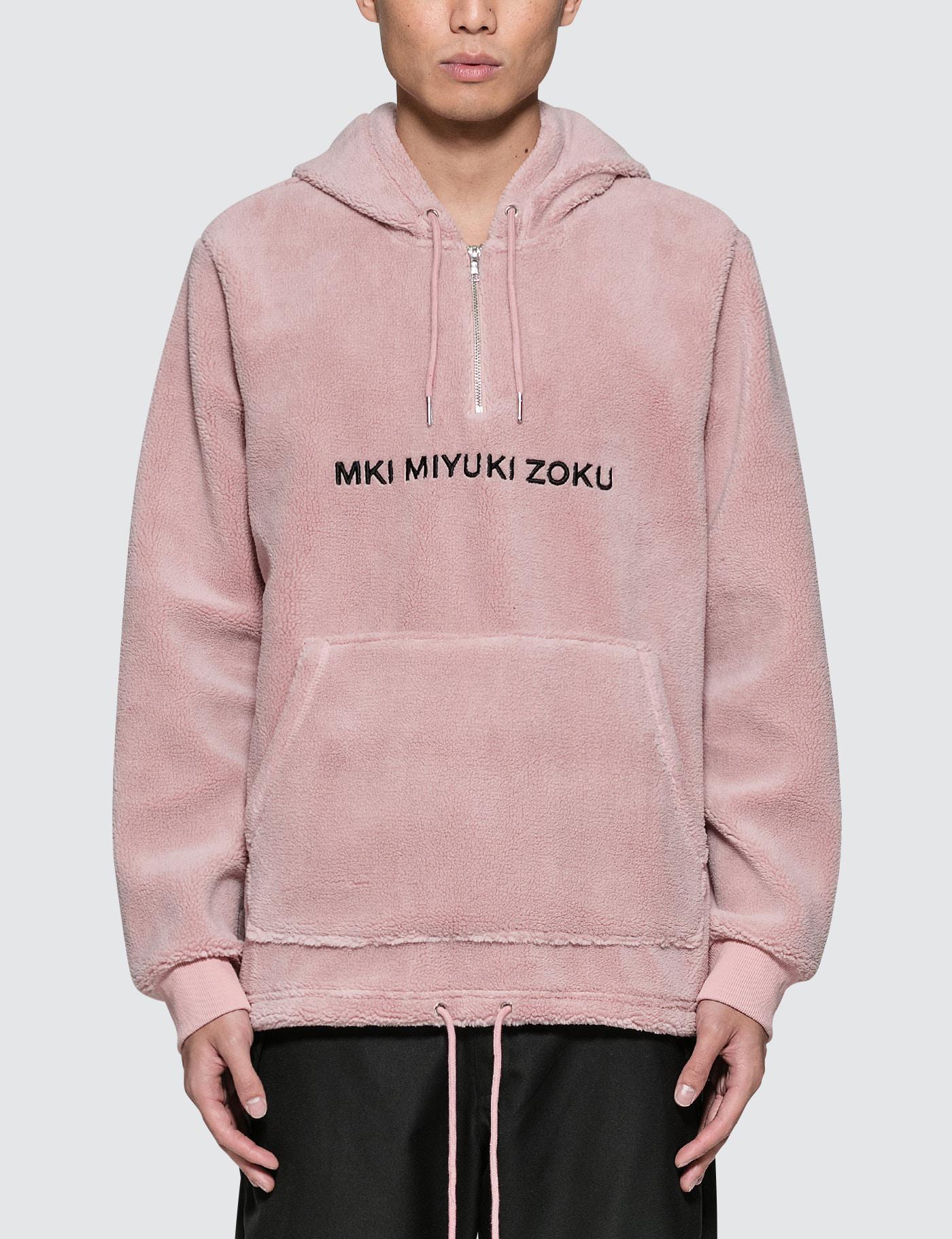 Mki miyuki-zoku Sherpa Hoodie in Pink for Men | Lyst
