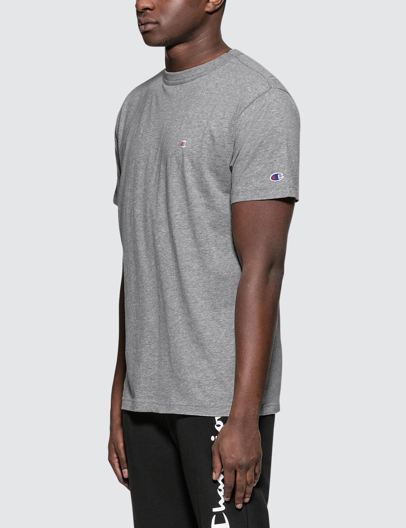 fd6bb78de277 Champion Small Logo S/s T-shirt in Gray for Men - Lyst