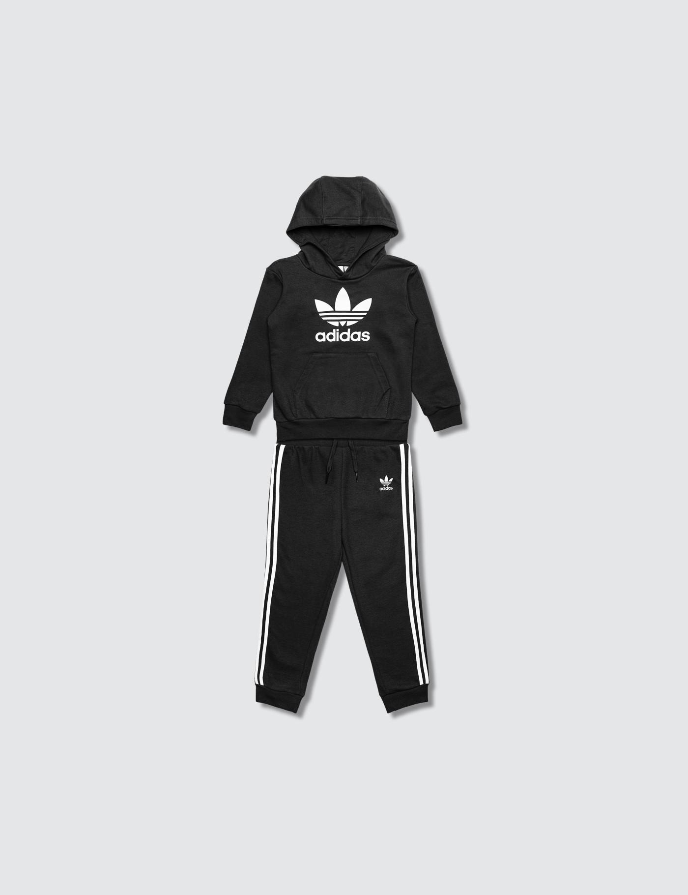 b848663c2fe9 Lyst - adidas Originals Trefoil Hoodie And Pants Set in Black for Men