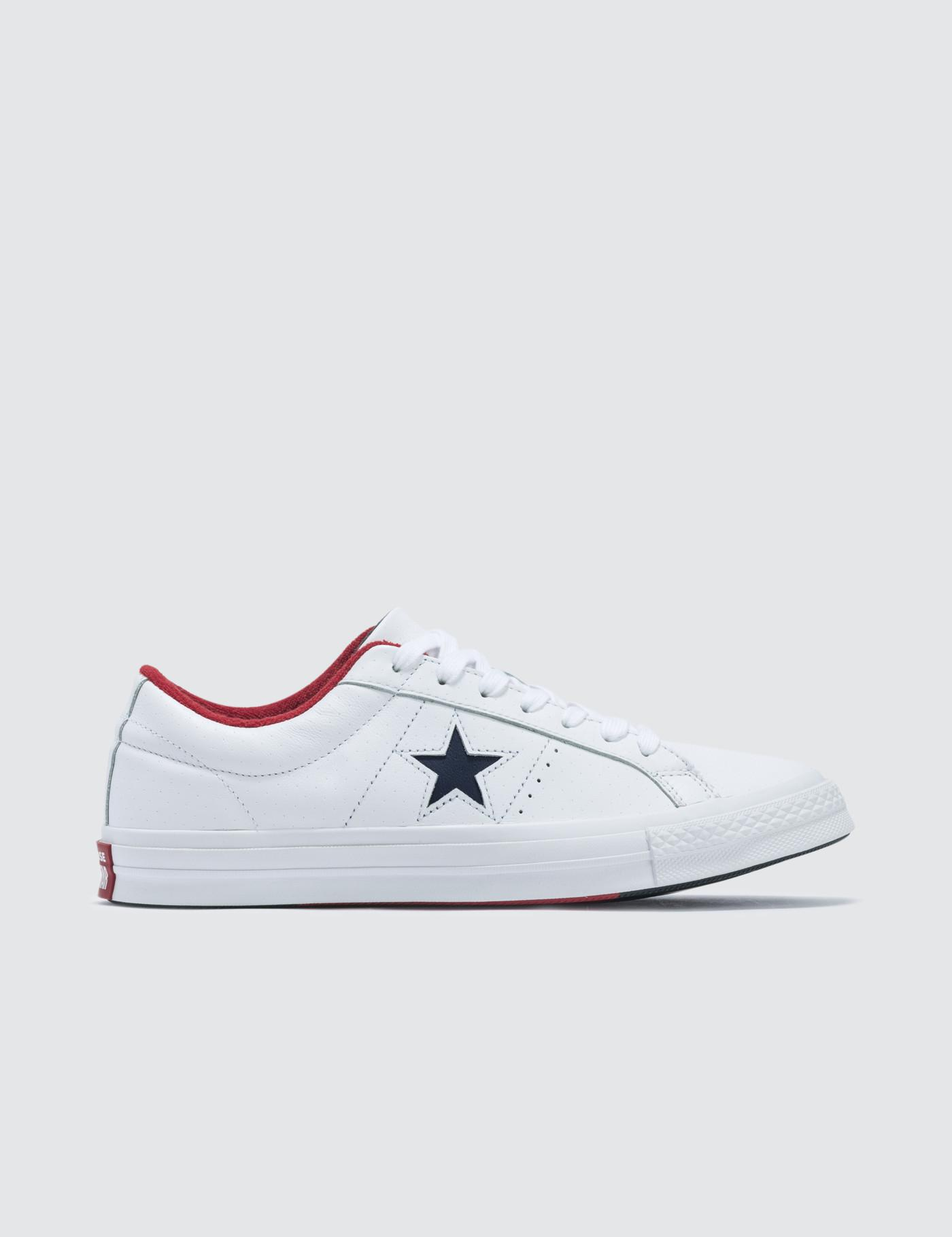 b5844af5ab4828 Converse One Star in White for Men - Lyst