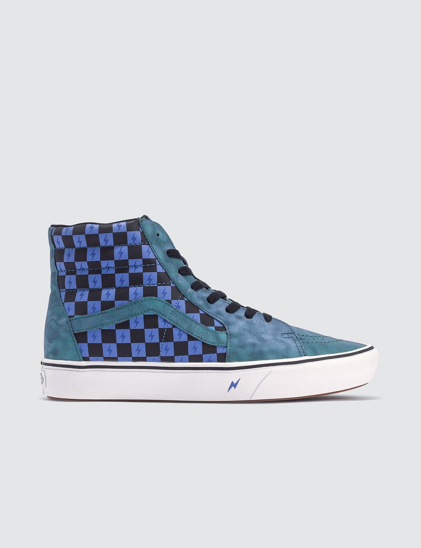 Vans x Harry Potter Unisex Comfycush Sk8 Hi Shoes,TransfigurationTue WihteBlue