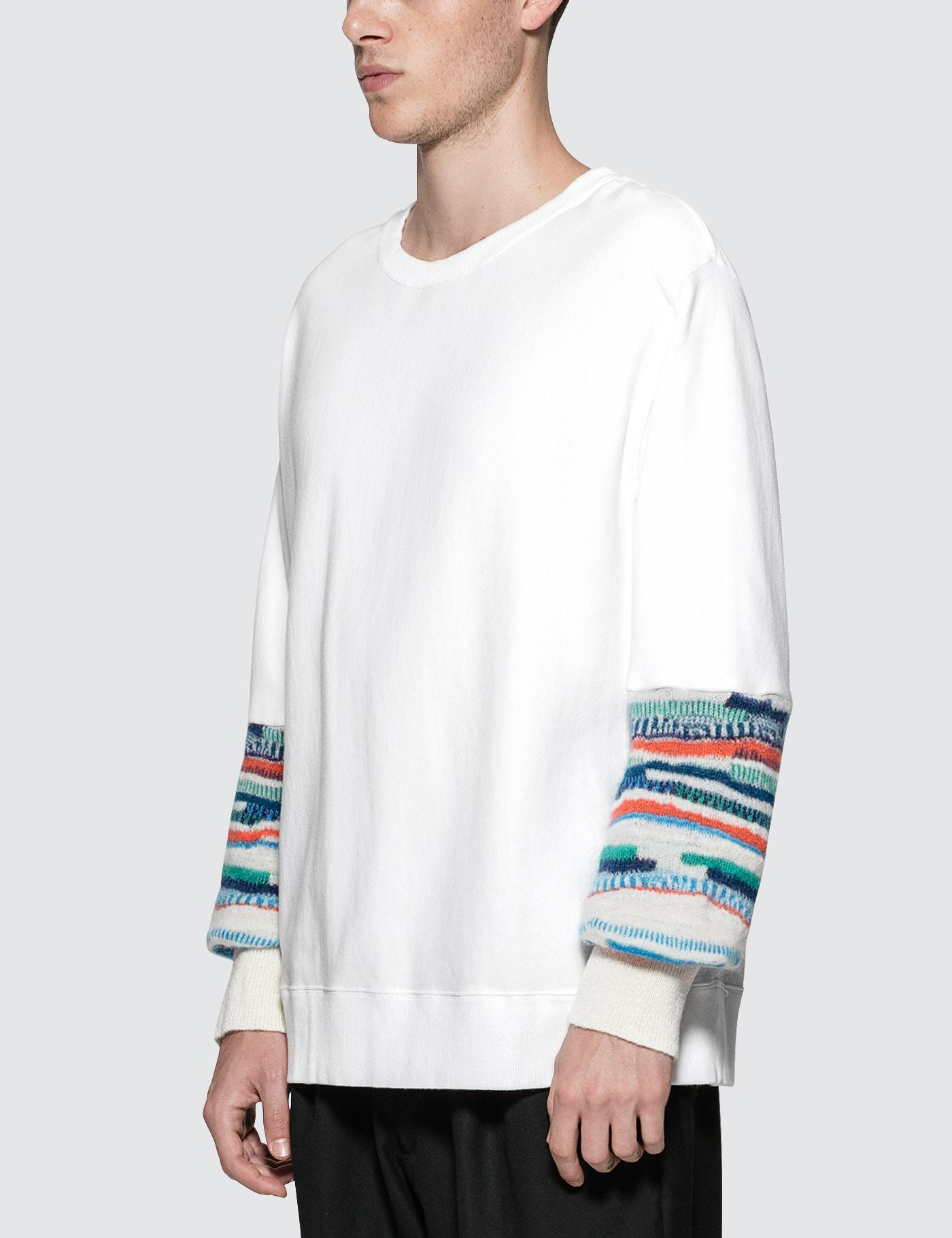 Facetasm Cotton Biggy Sweatshirt in White for Men