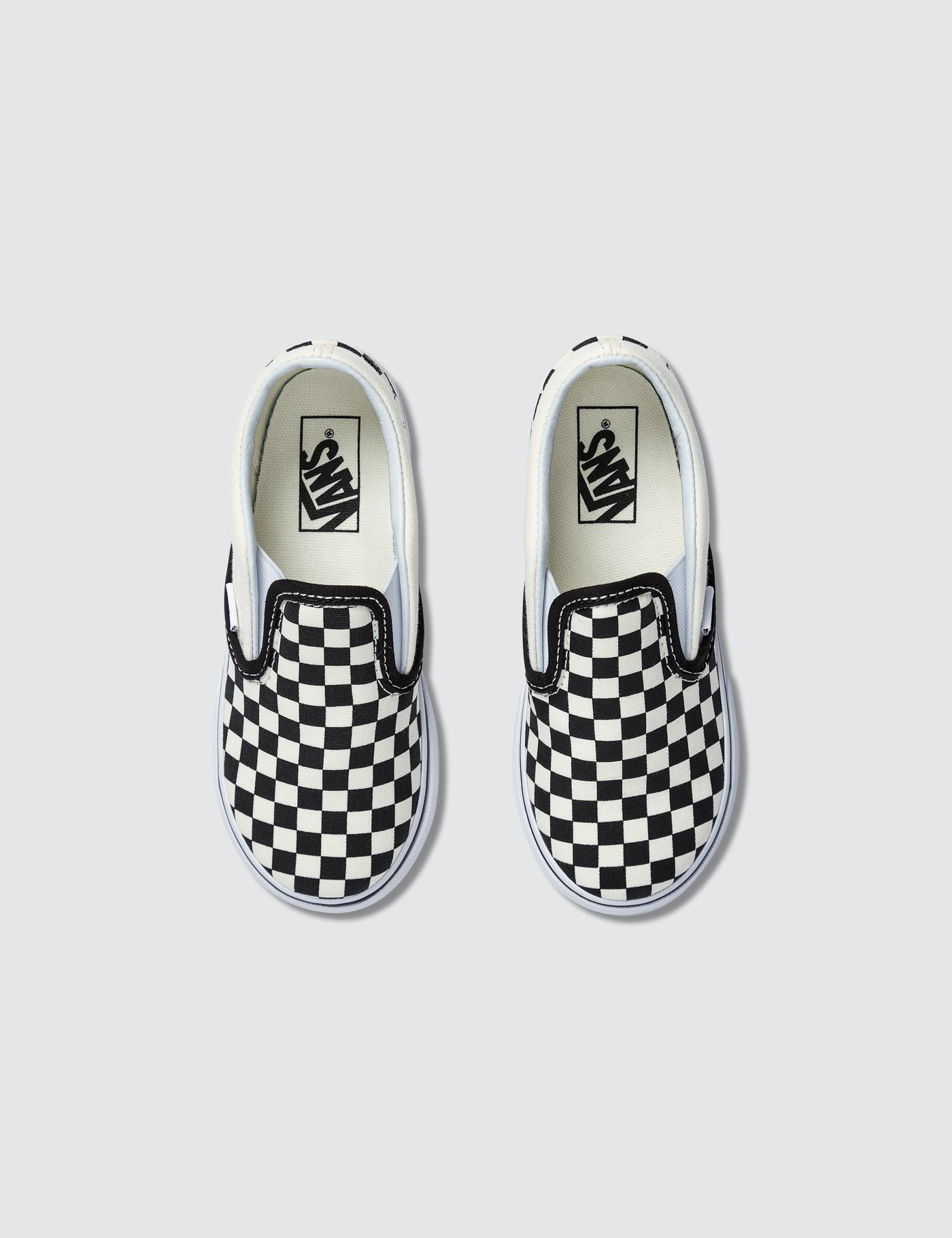 73016d6a33aa Lyst - Vans Classic Slip On Canvas Checkerboard Trainers in White for Men -  Save 37%